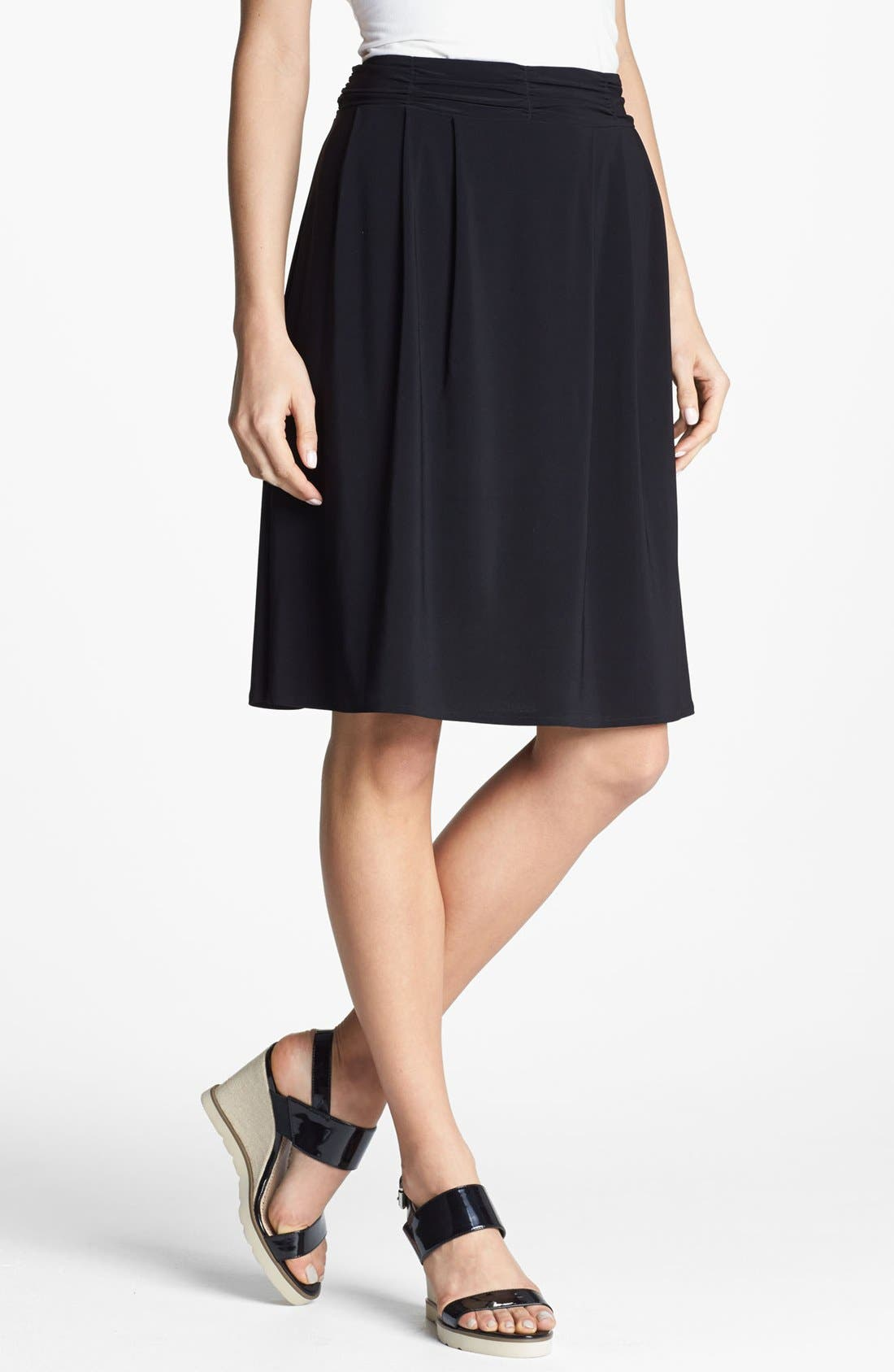 Alternate Image 1 Selected - Chaus Ruched Waist Skirt