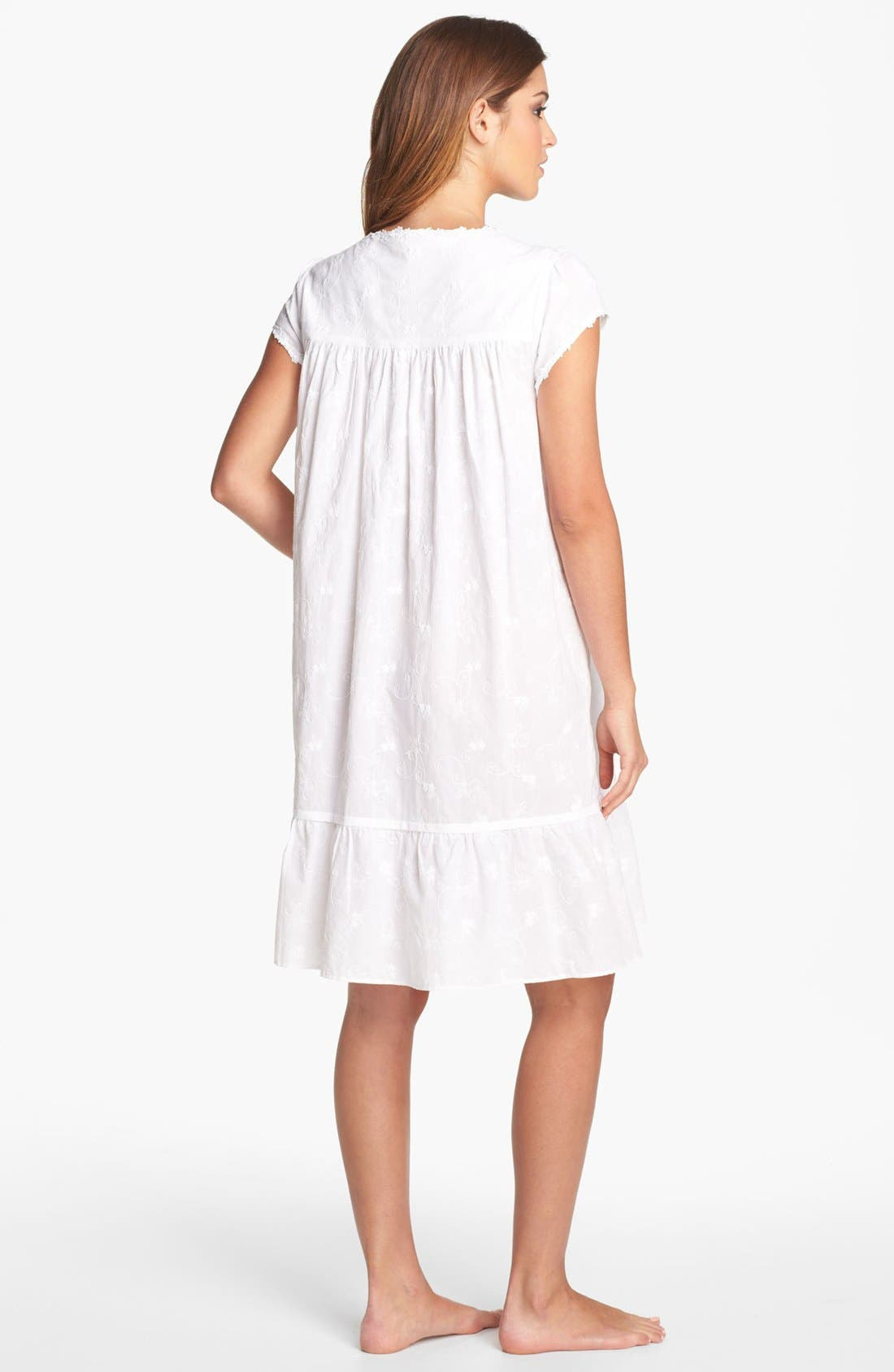 Alternate Image 2  - Eileen West 'Breaking Waves' Embroidered Nightgown