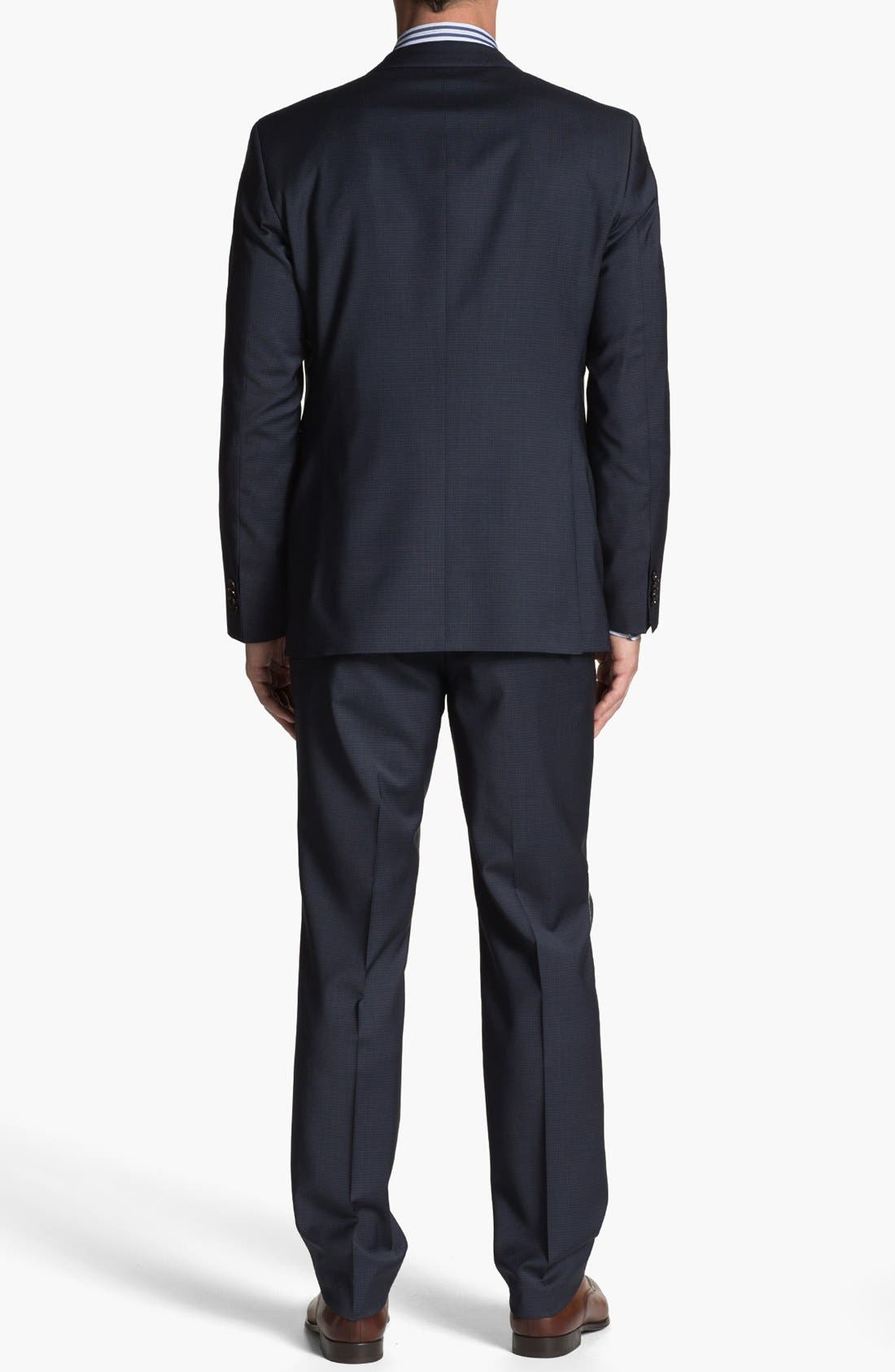 Alternate Image 4  - BOSS HUGO BOSS 'James/Sharp' Trim Fit Check Suit