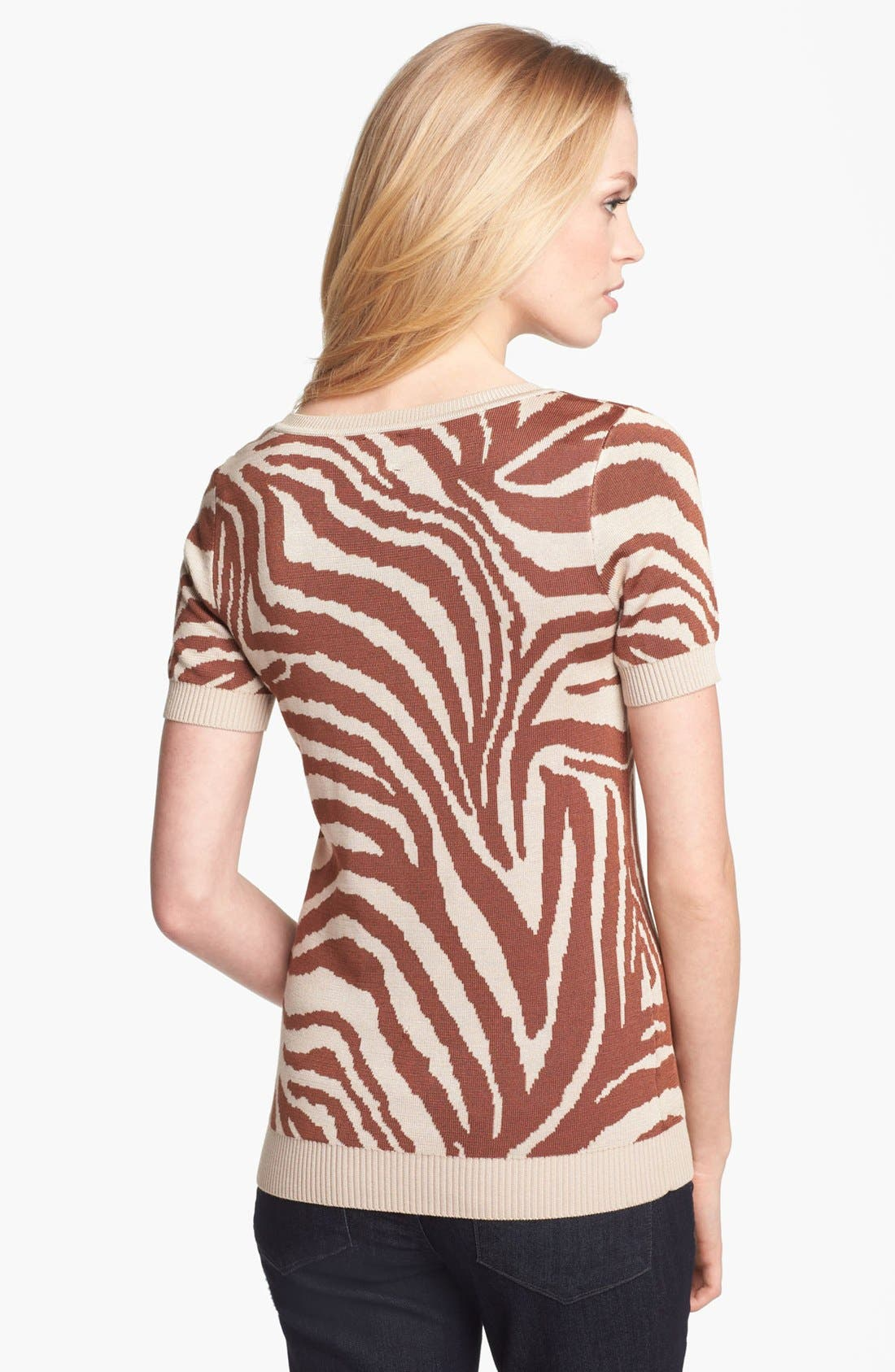 Alternate Image 2  - Anne Klein Animal Intarsia Sweater (Petite)