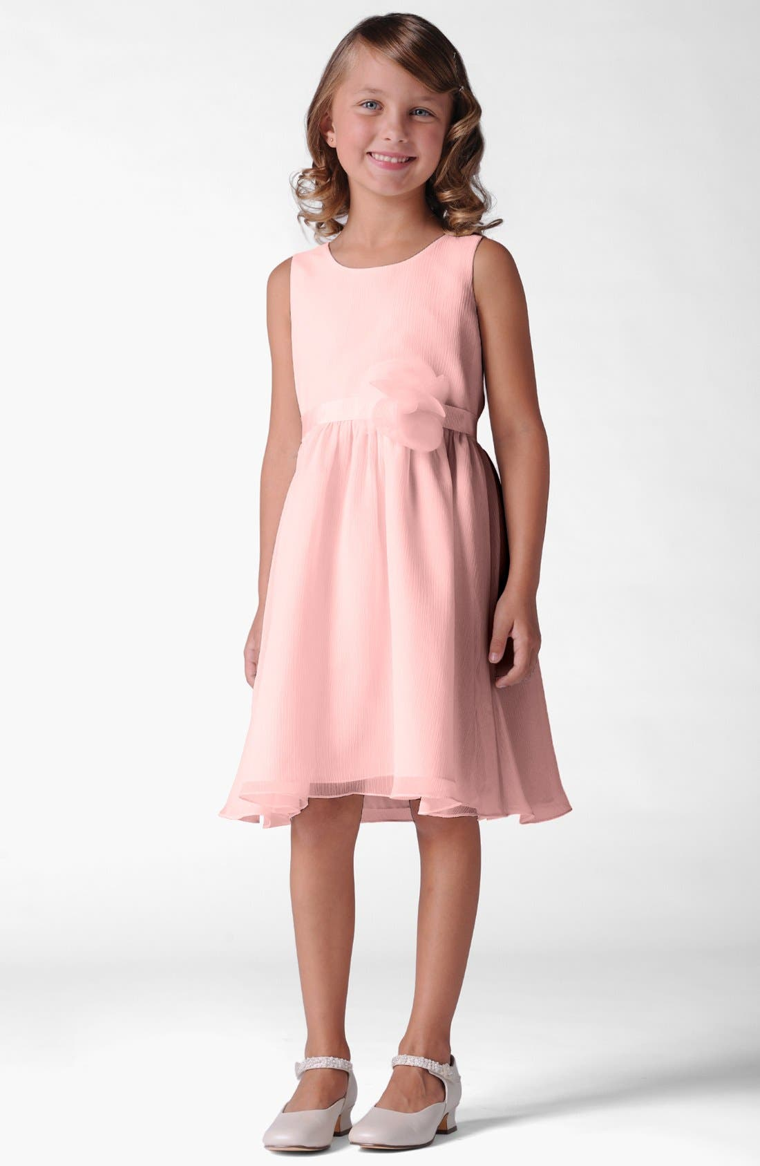 Alternate Image 1 Selected - Us Angels Sleeveless Chiffon Dress (Little Girls & Big Girls)