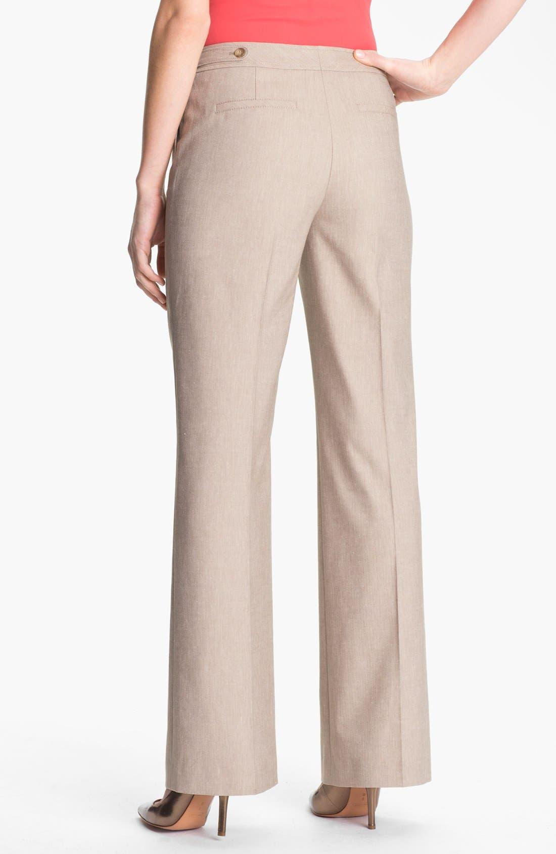 Alternate Image 2  - Halogen® 'Taylor' Herringbone Curvy Fit Pants