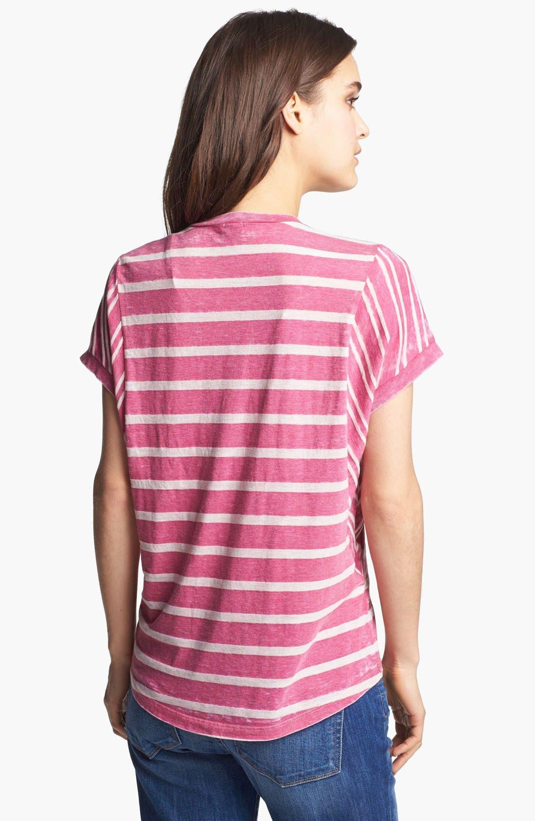 Alternate Image 2  - Splendid Shadow Stripe Dolman Tee