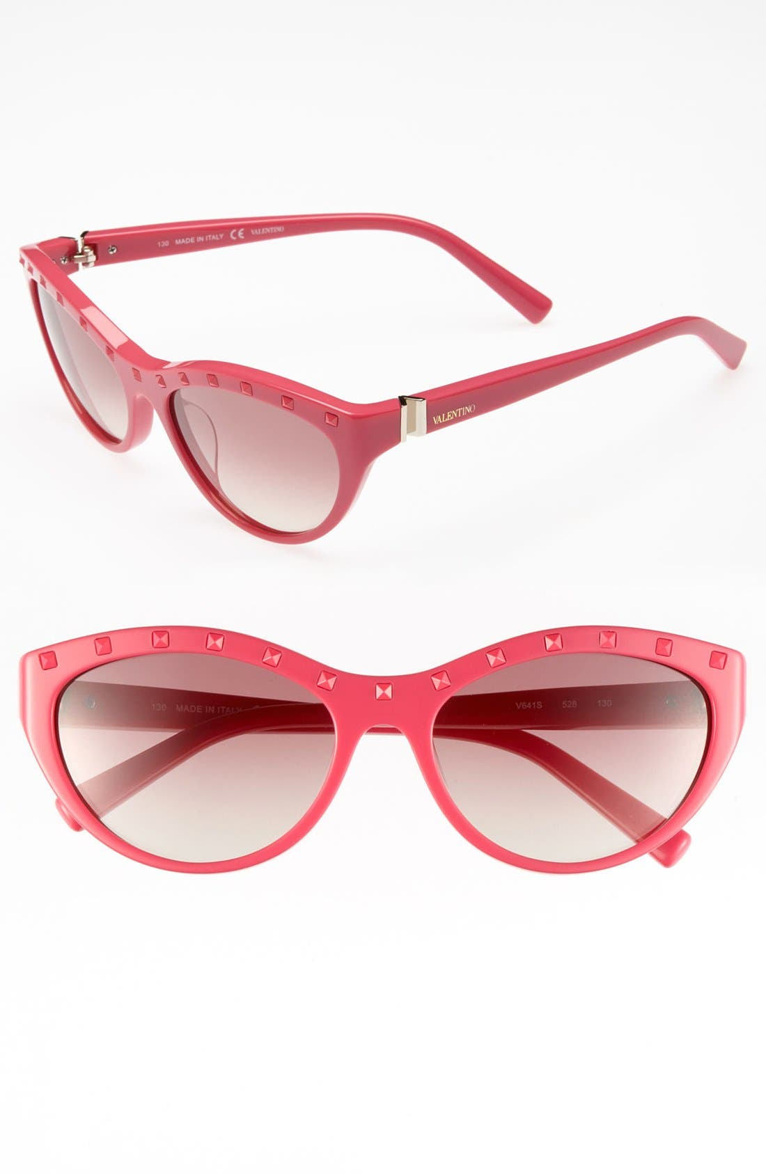 Alternate Image 1 Selected - Valentino 'Rockstud' 54mm Cat Eye Sunglasses