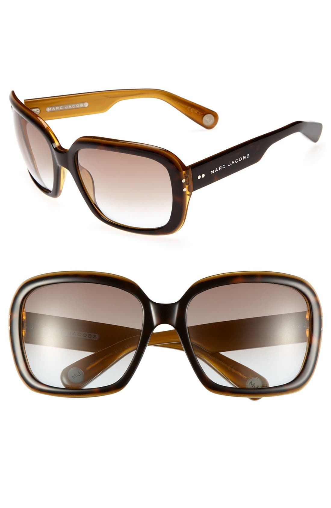 Alternate Image 1 Selected - MARC JACOBS 61mm Oversized Sunglasses