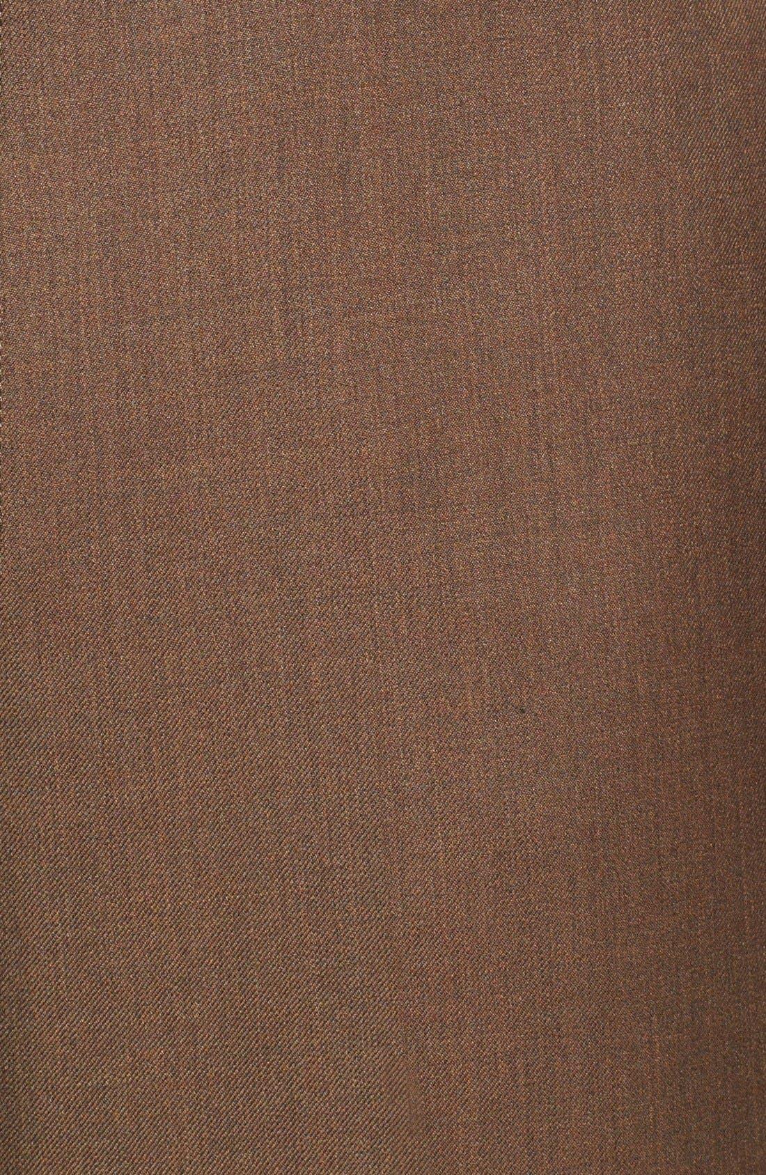 Alternate Image 3  - Santorelli Luxury Flat Front Wool Trousers