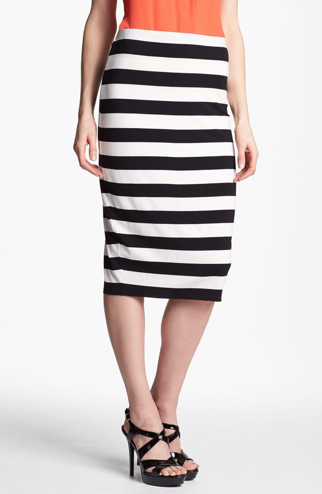 Alternate Image 1 Selected - Vince Camuto Stripe Midi Tube Skirt