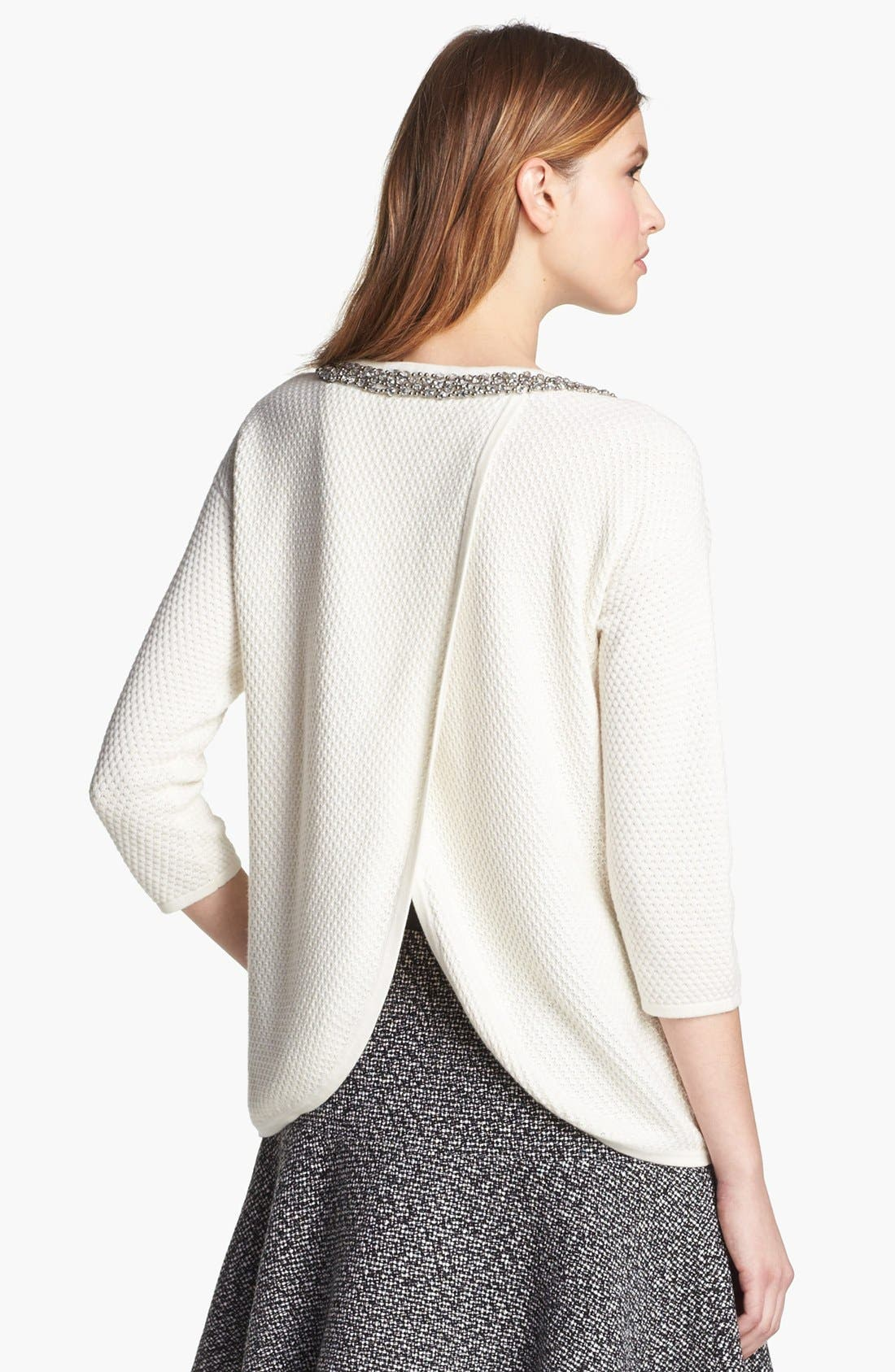 Alternate Image 2  - Hinge® Jewel Neck Sweater