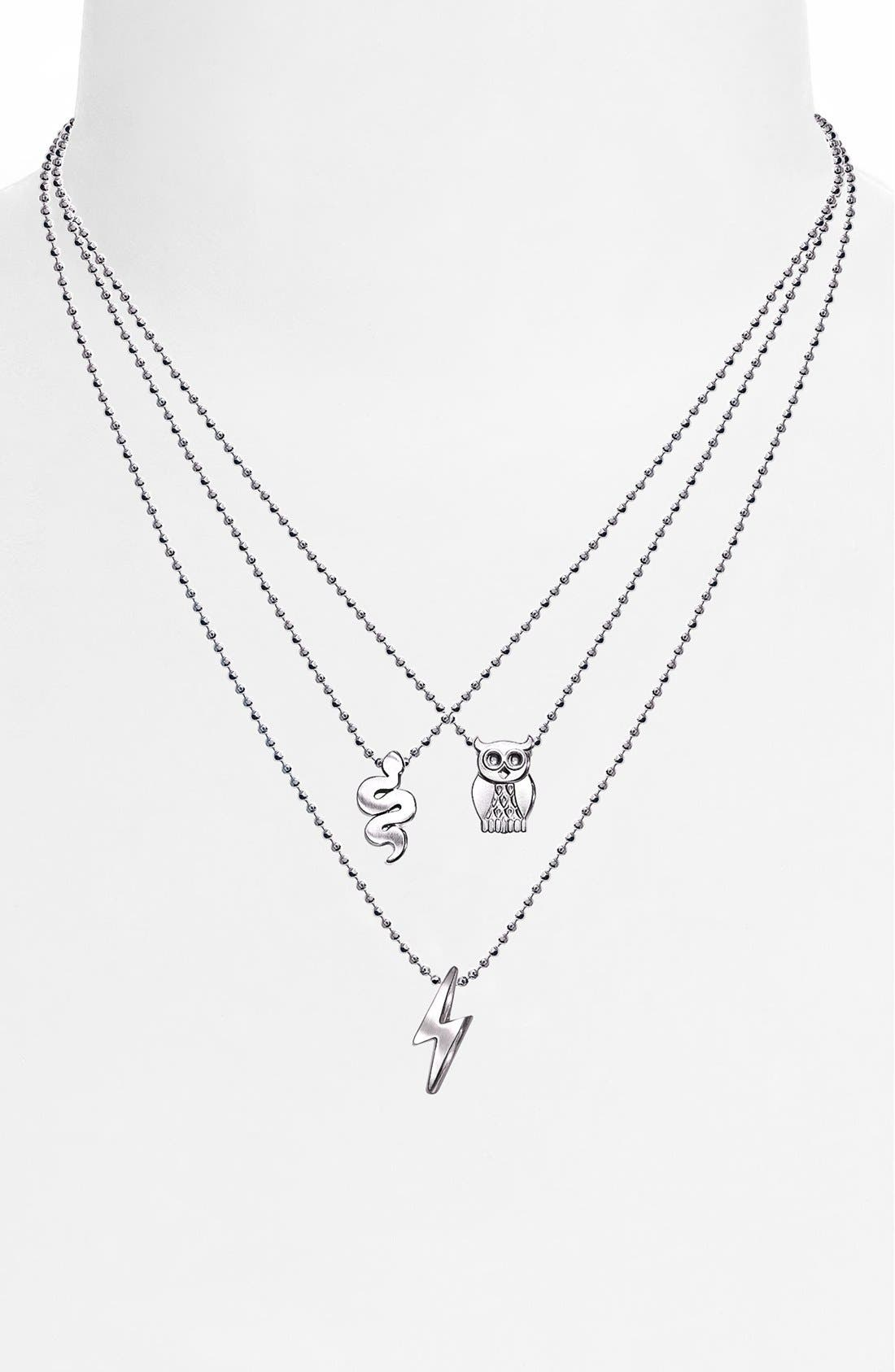 Alternate Image 2  - Alex Woo 'Little Rock Star' Lightning Bolt Pendant Necklace