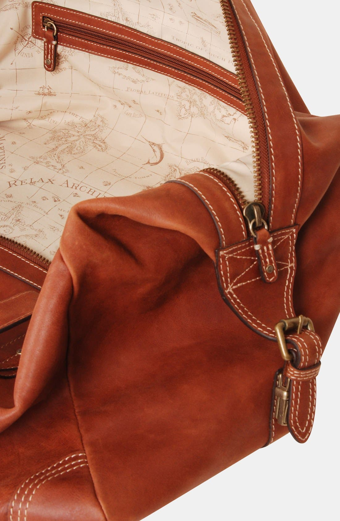 Alternate Image 3  - Tommy Bahama Leather Duffel Bag