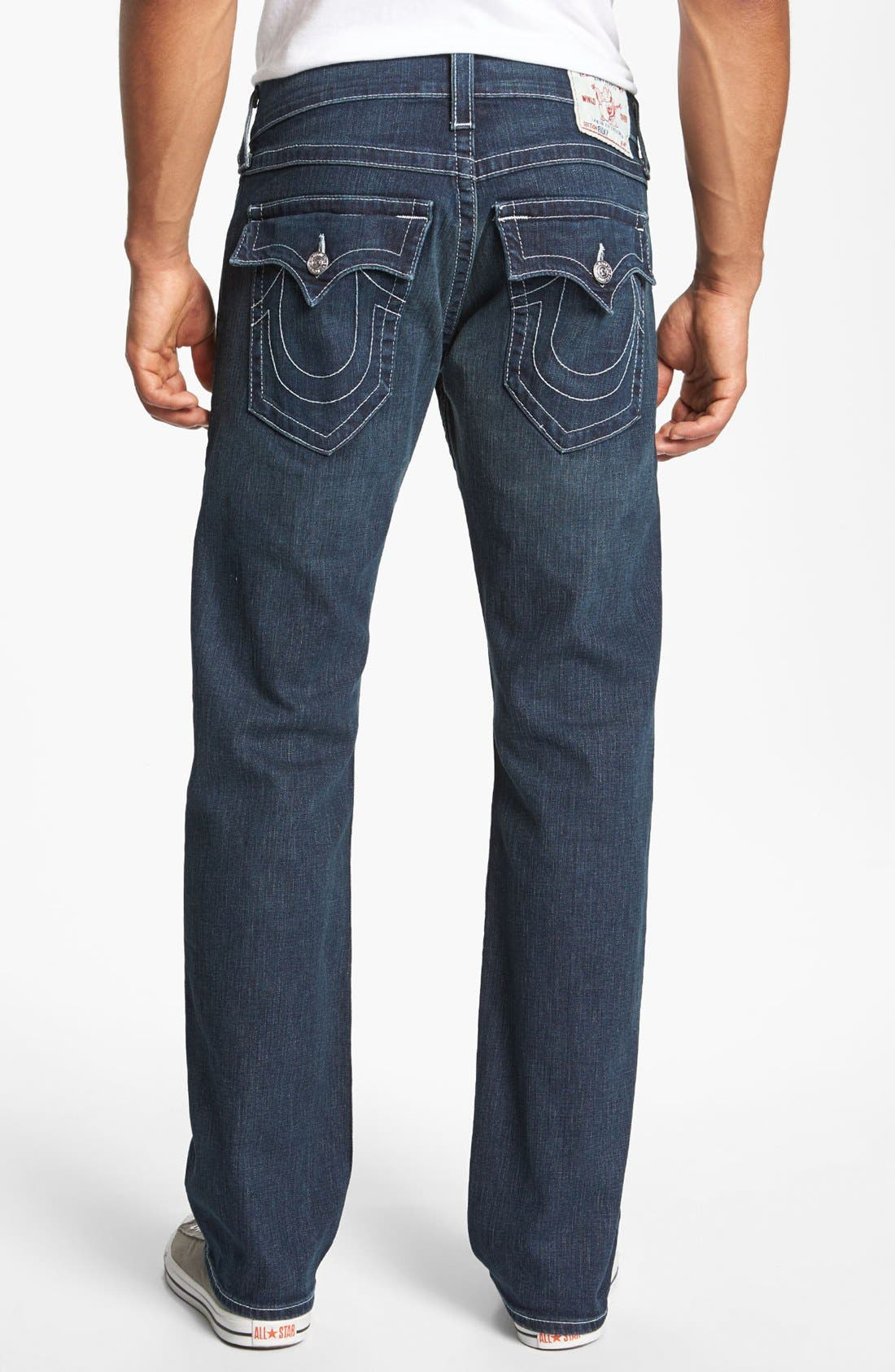 Alternate Image 1 Selected - True Religion Brand Jeans 'Ricky' Stretch Relaxed Fit Jeans (Monte)