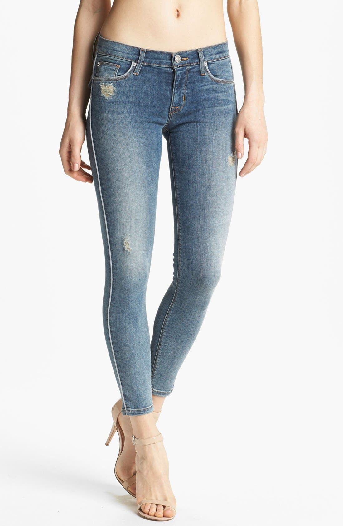 Alternate Image 1 Selected - Hudson Jeans Piped Super Skinny Jeans