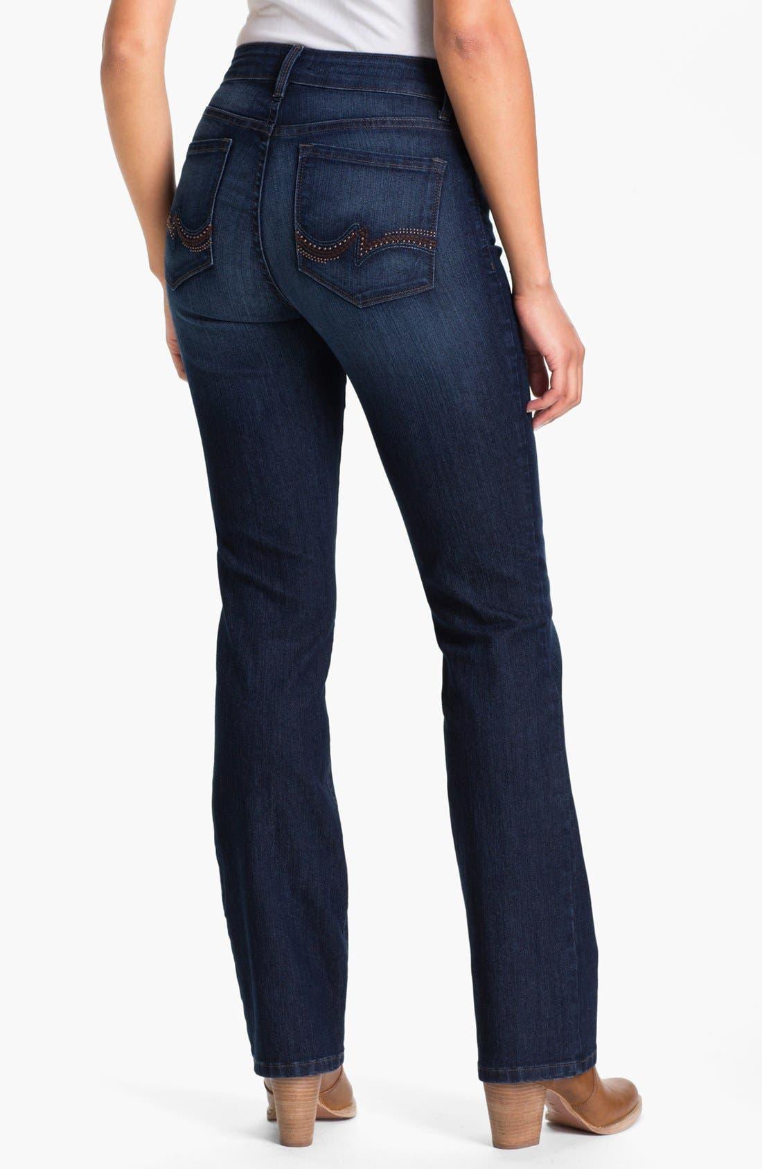 Alternate Image 2  - NYDJ 'Barbara' Embellished Bootcut Jeans (Petite)