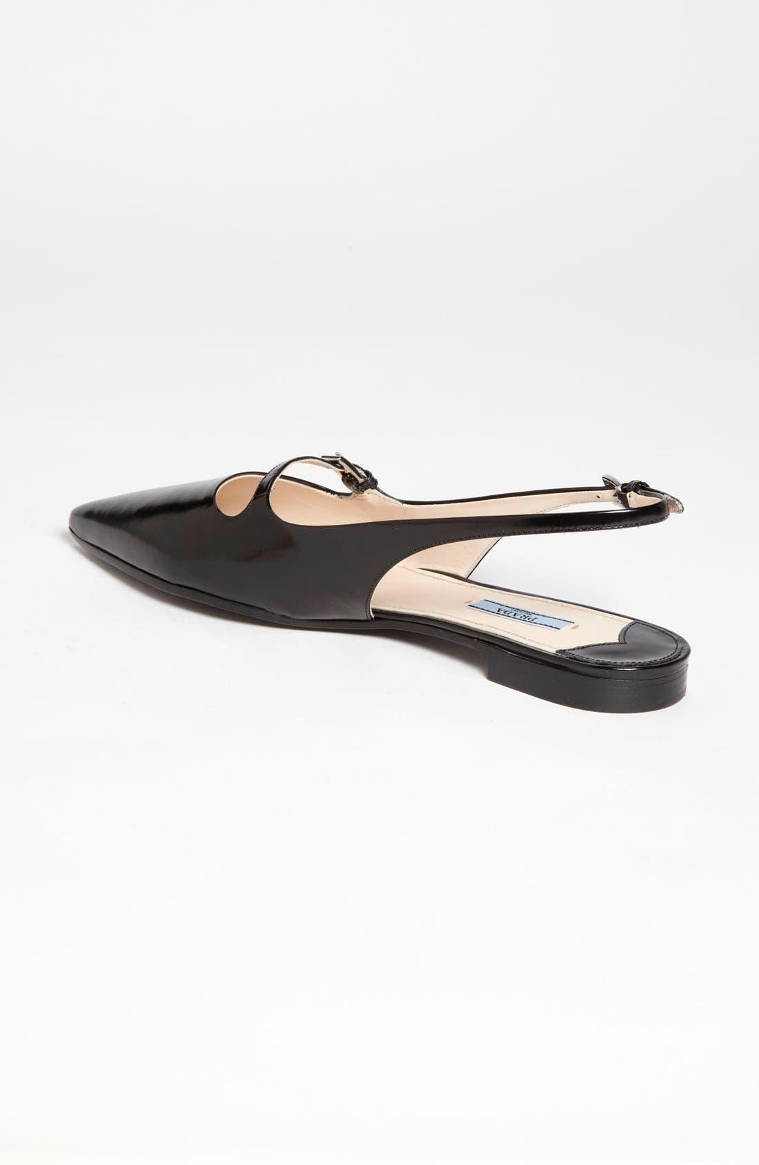 Alternate Image 2  - Prada Pointy Toe Slingback Flat