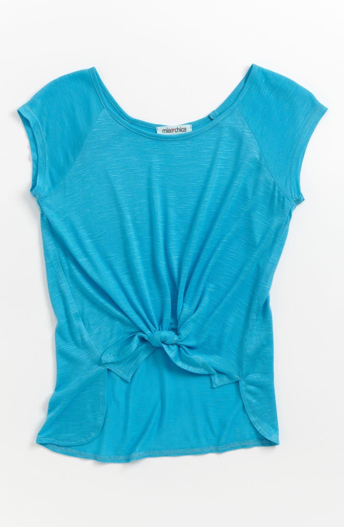 Main Image - Mia Chica Tie Dye Top (Big Girls)
