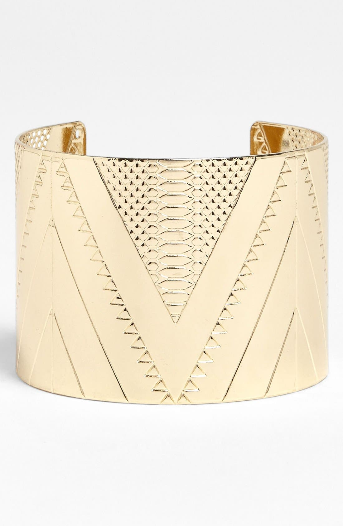 Alternate Image 1 Selected - Carole Etched Cuff (Juniors)
