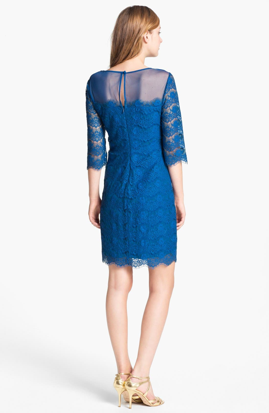 Alternate Image 2  - Max & Cleo 'Lillian' Scalloped Lace Minidress
