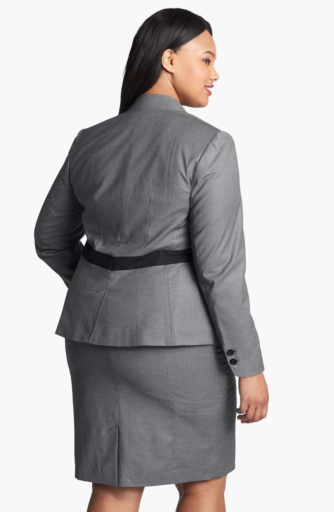Alternate Image 2  - Sejour 'Marcy' Suit Jacket (Plus Size)