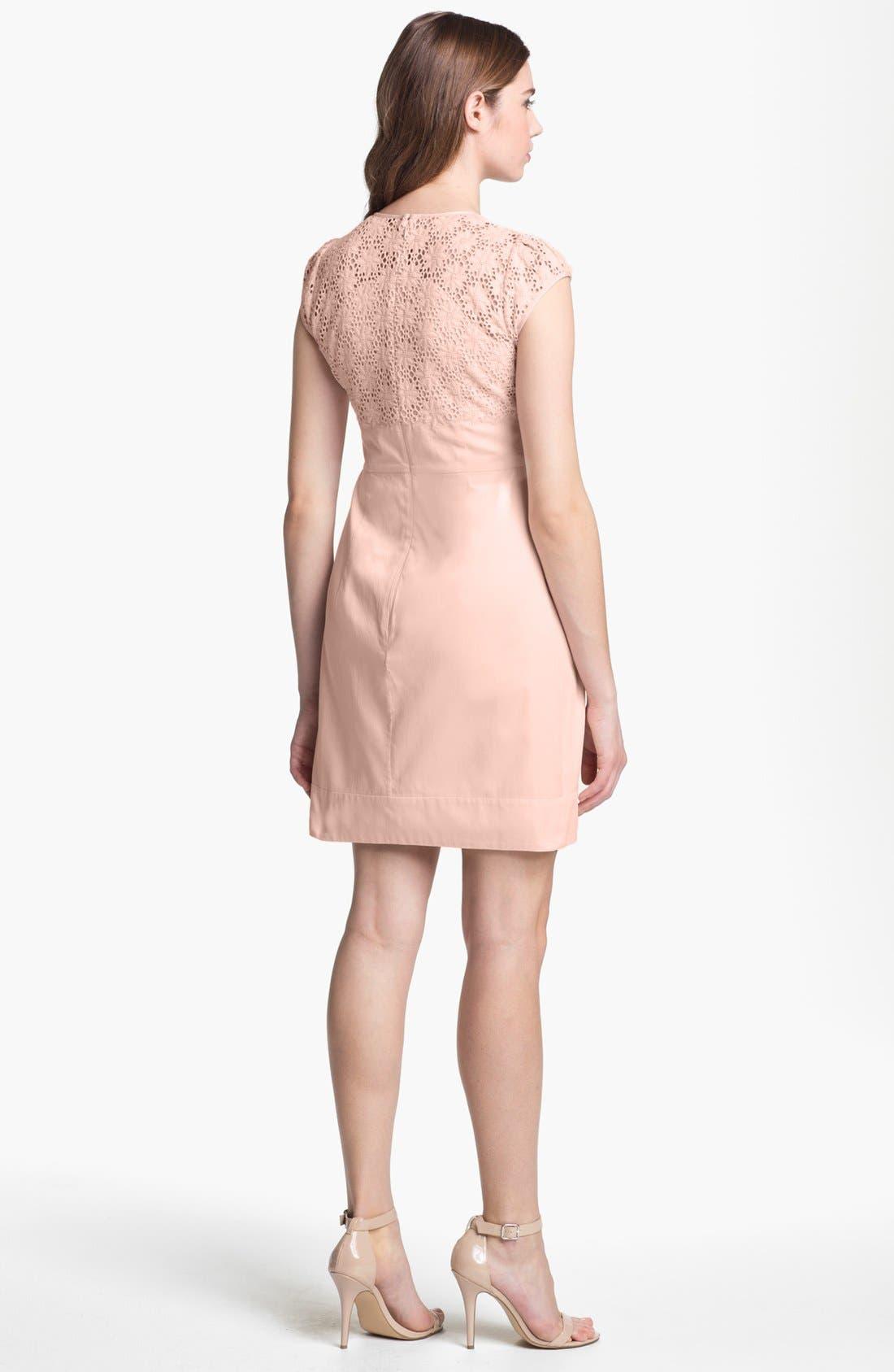 Alternate Image 2  - French Connection 'Creamy' Embroidered Yoke Sheath Dress