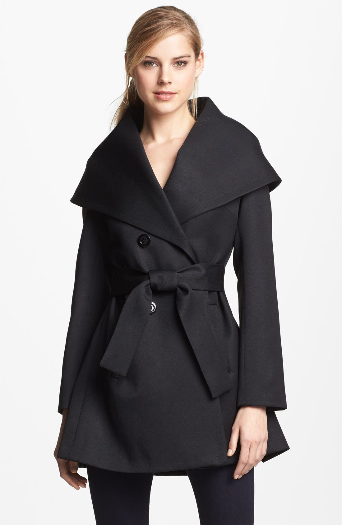 Alternate Image 1 Selected - Trina Turk 'Ali' Gabardine Wrap Coat