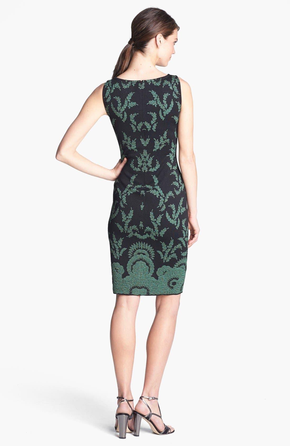 Alternate Image 2  - St. John Collection Plume Floral Brocade Dress
