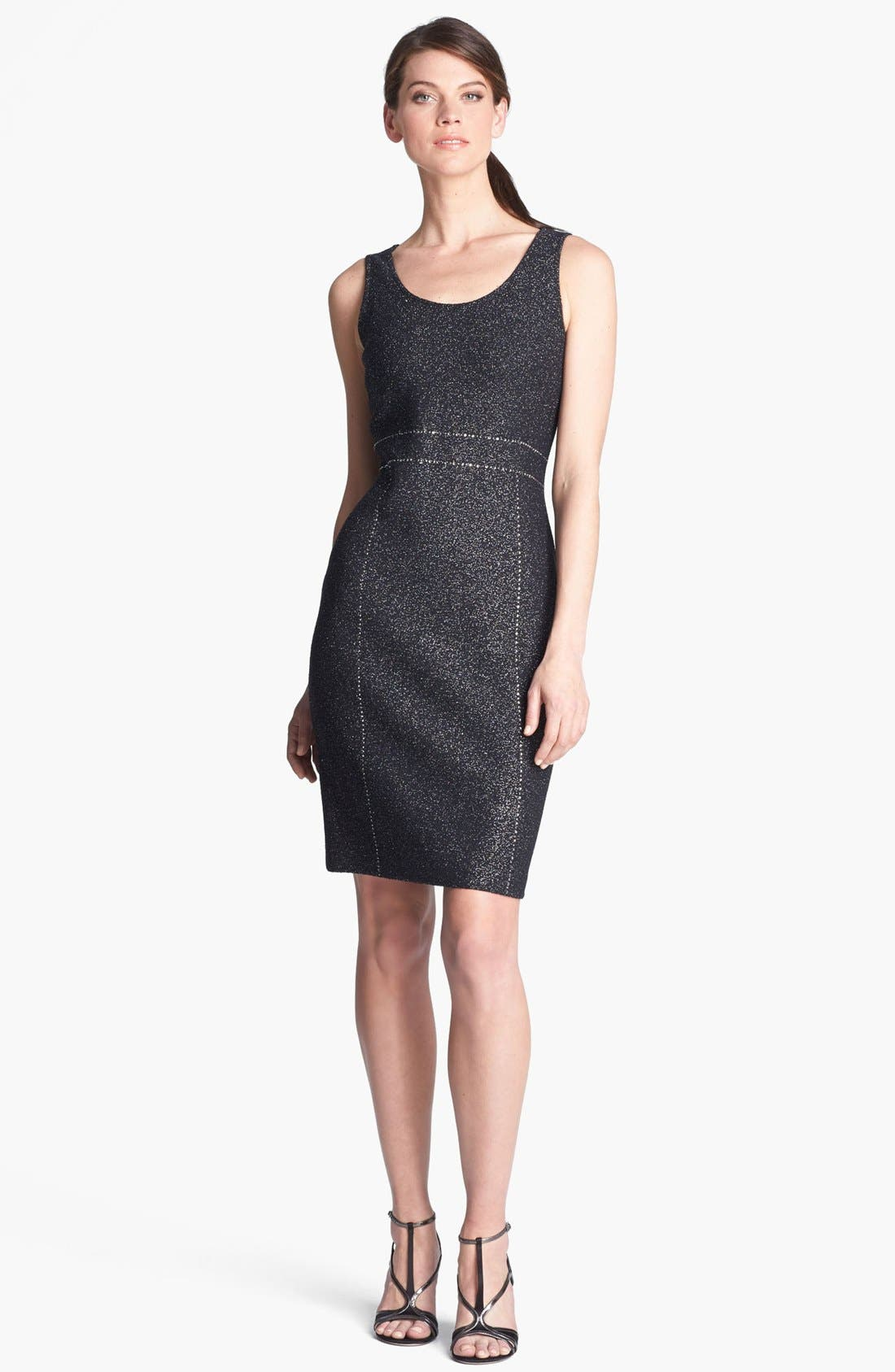 Main Image - St. John Collection Sequin Embellished Shimmer Tweed Dress