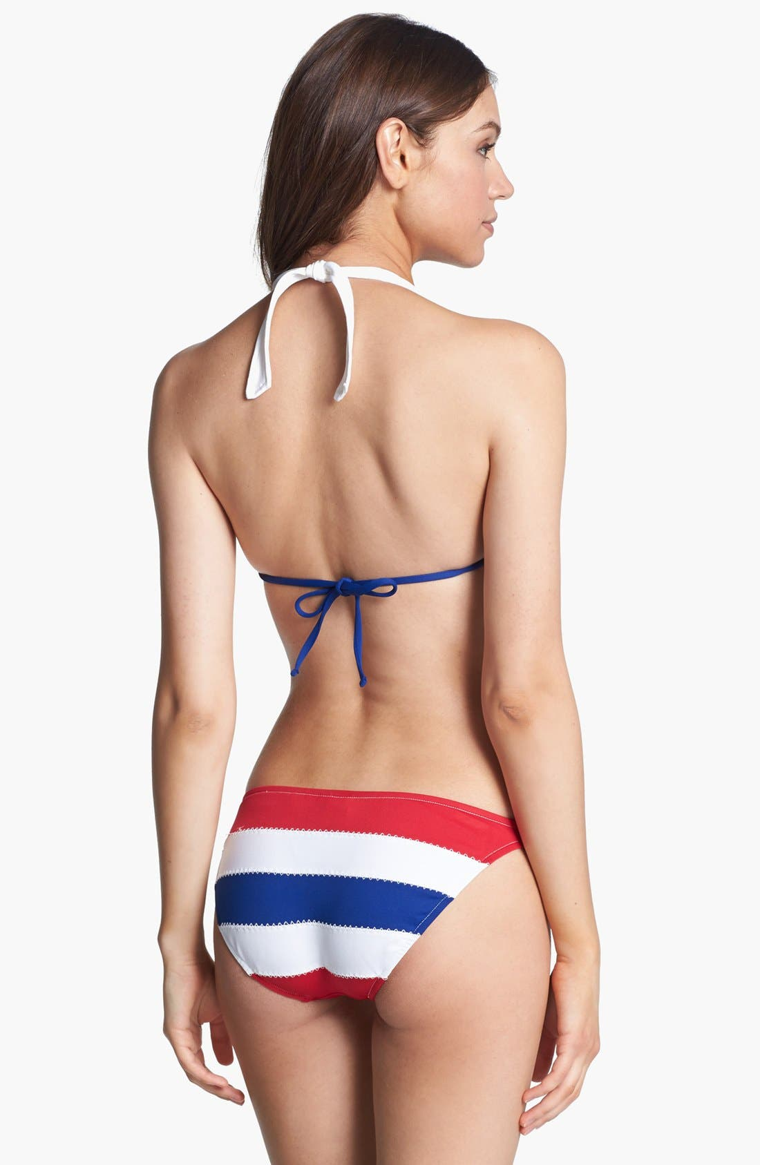 Alternate Image 3  - Ralph Lauren Stripe Halter Bikini Top