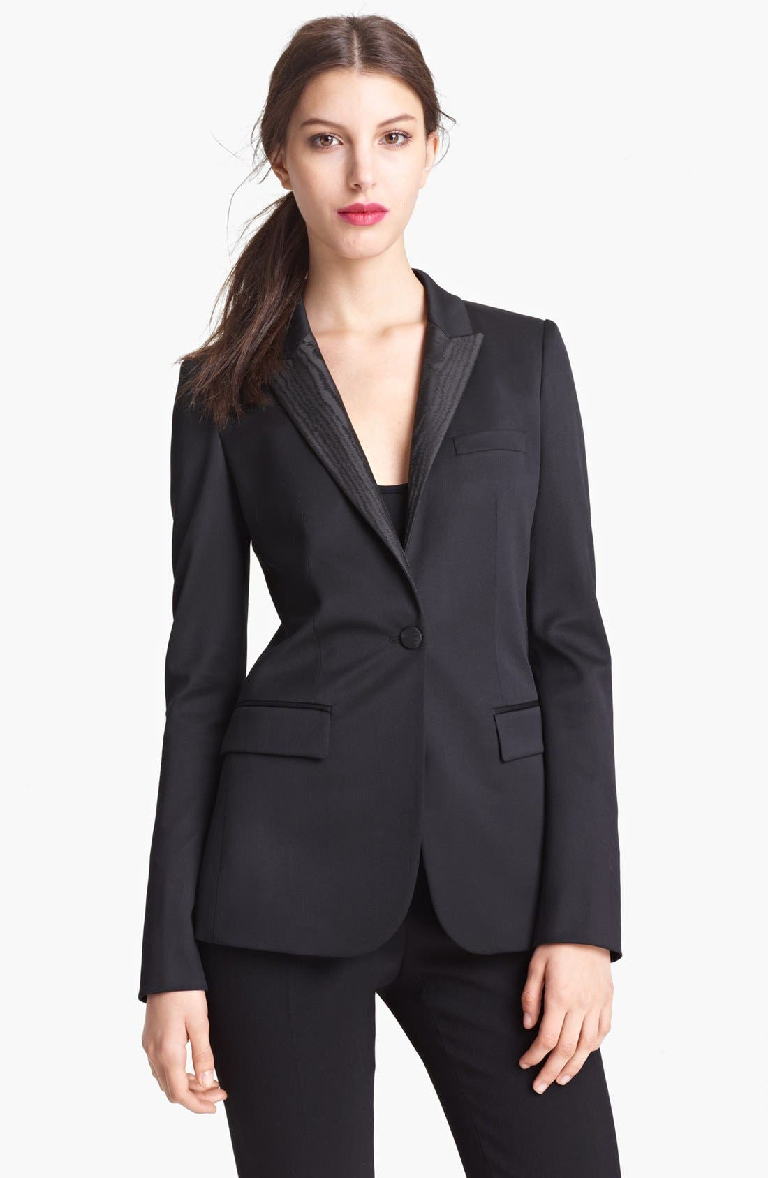 Alternate Image 1 Selected - Burberry Prorsum Moiré Collar Jacket