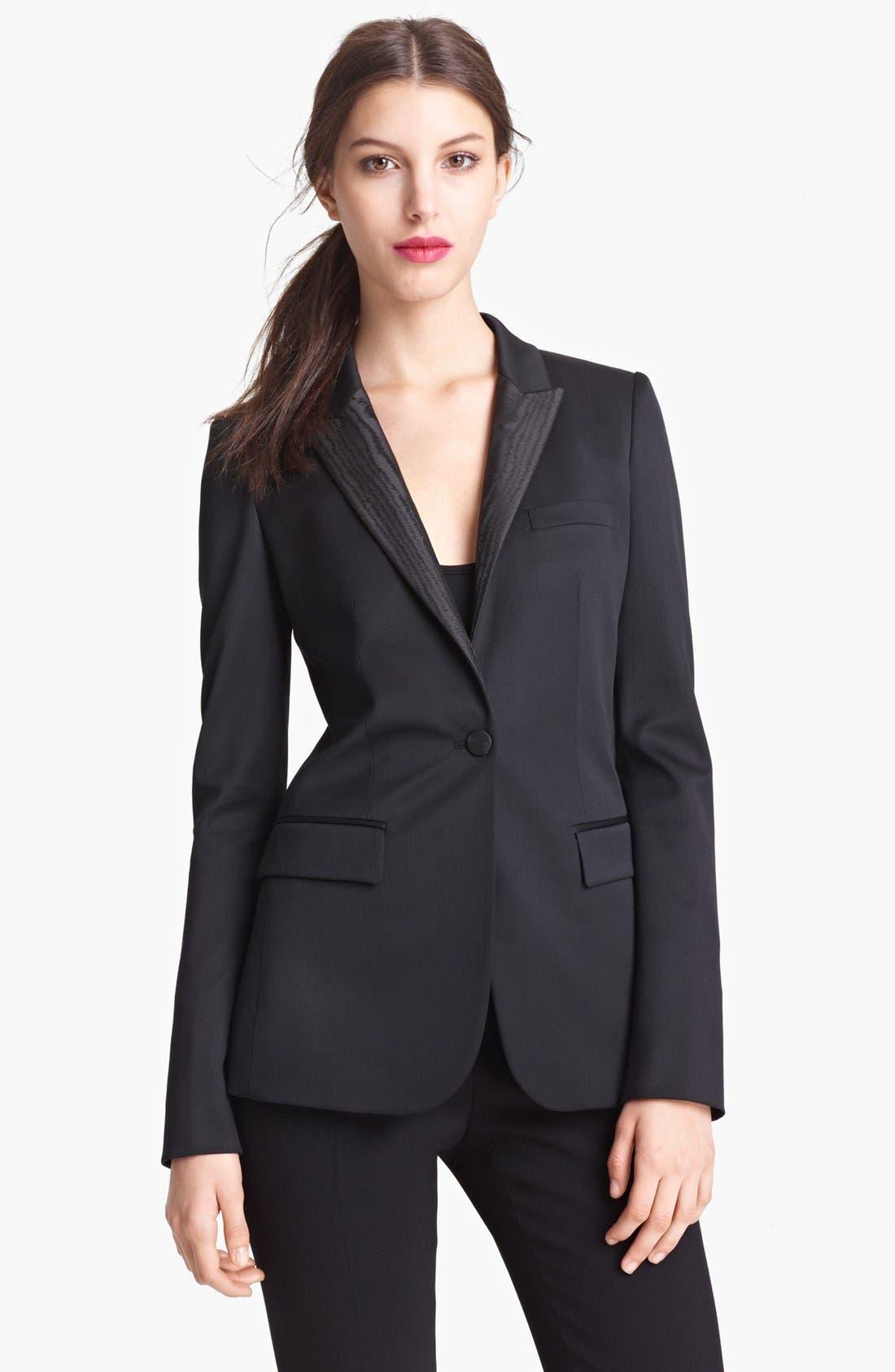 Main Image - Burberry Prorsum Moiré Collar Jacket