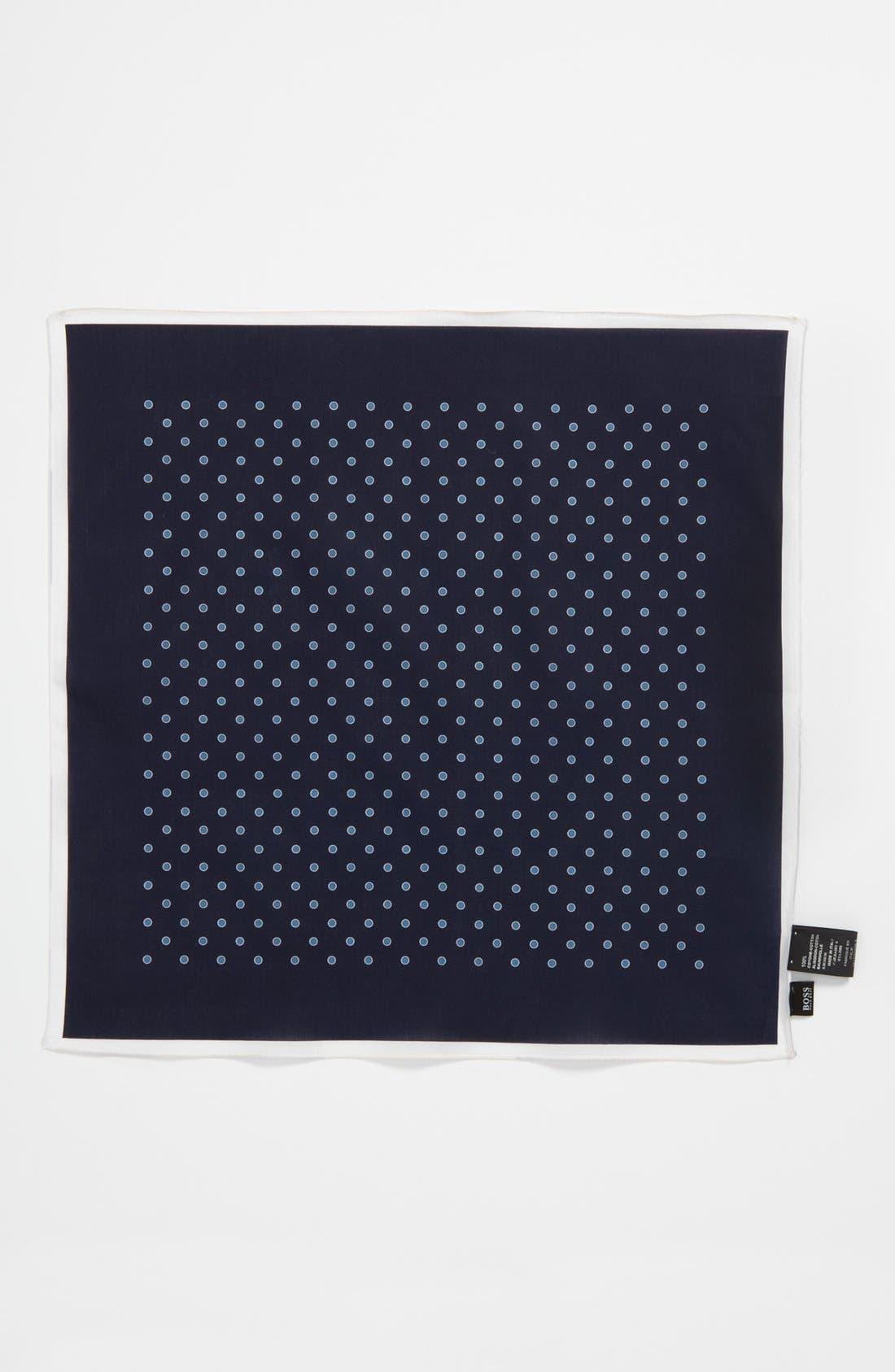 Alternate Image 2  - BOSS Black Pocket Square