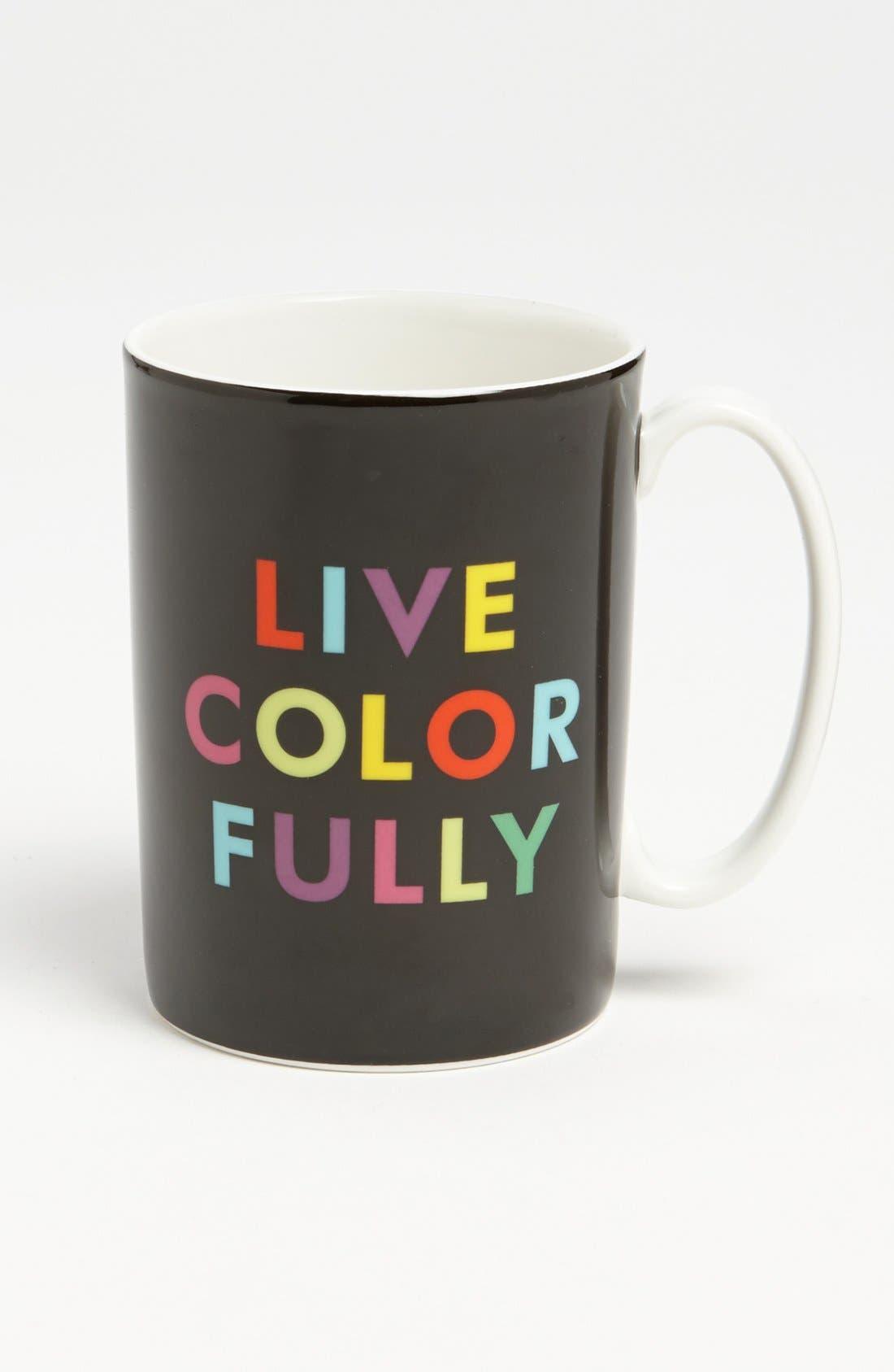 Main Image - kate spade new york 'things we love™ - live colorfully' mug