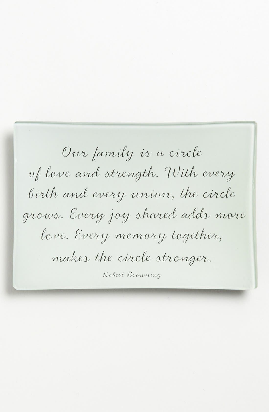 'Our Family' Trinket Tray,                             Main thumbnail 1, color,                             Ivory