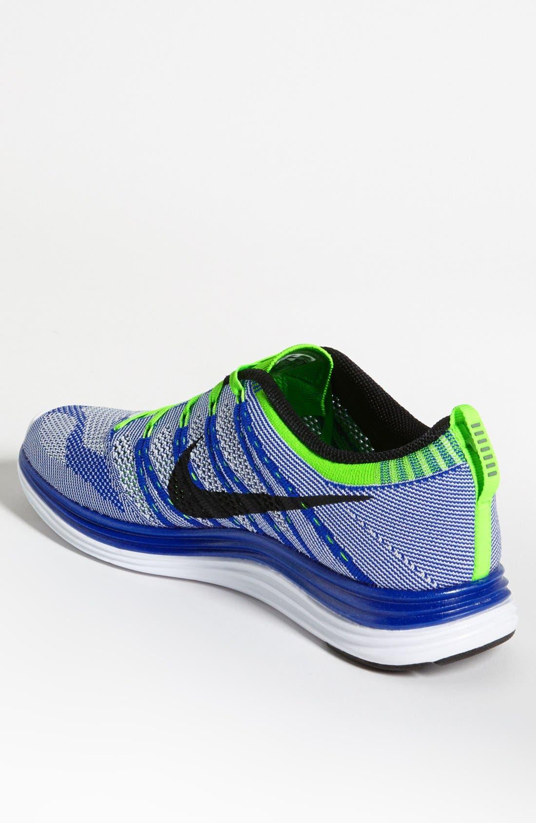 Alternate Image 2  - Nike 'Flyknit Lunar1+' Running Shoe (Men)