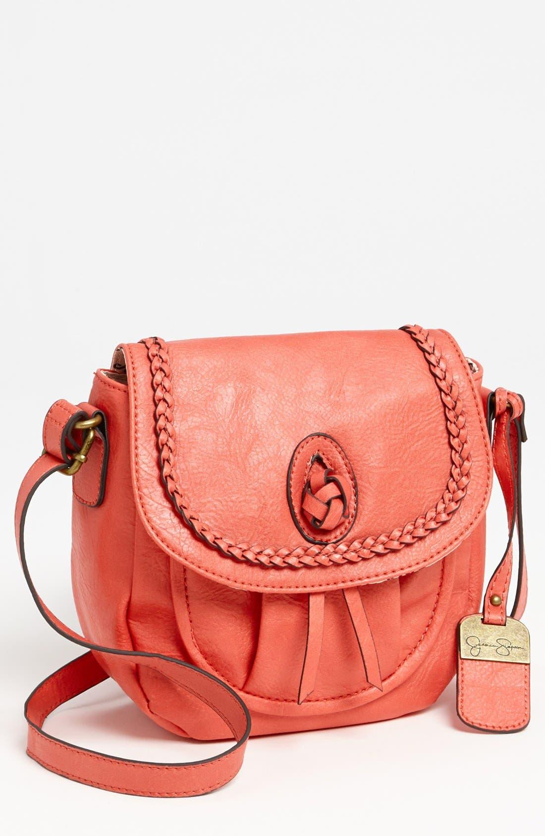Alternate Image 1 Selected - Jessica Simpson 'Emma' Faux Leather Crossbody Bag