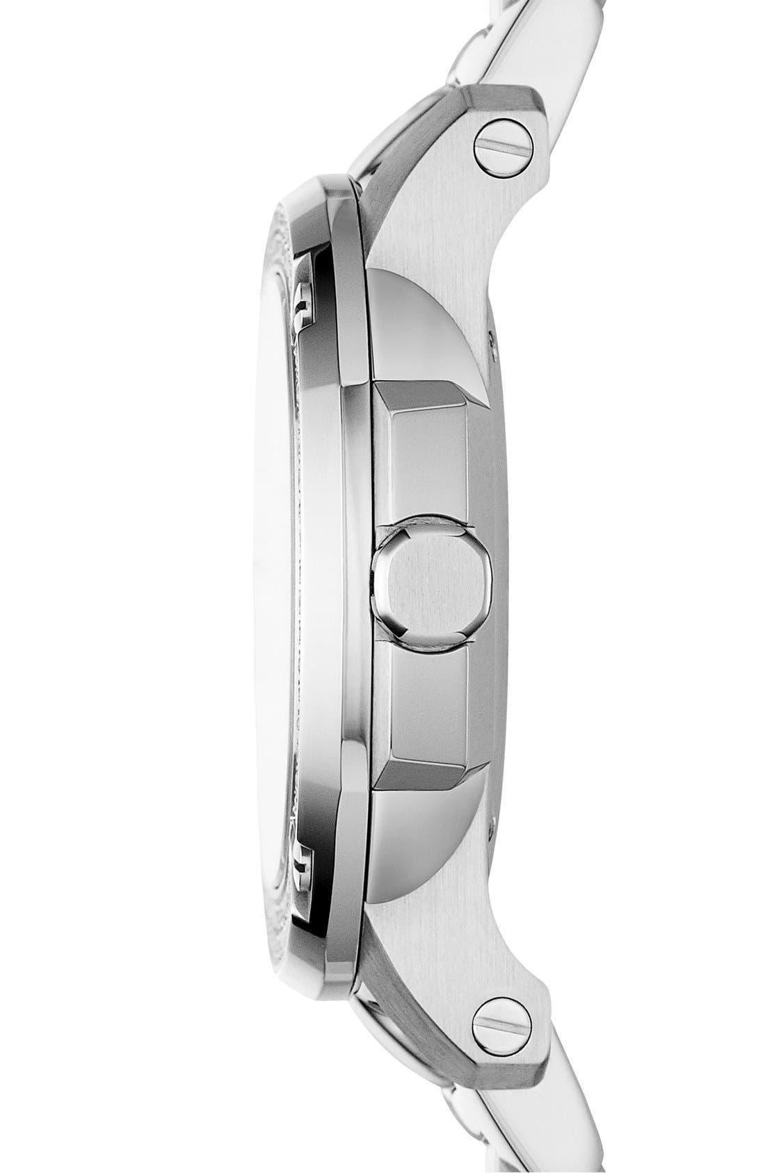 Alternate Image 2  - Burberry The Britain Diamond Bezel Bracelet Watch, 34mm