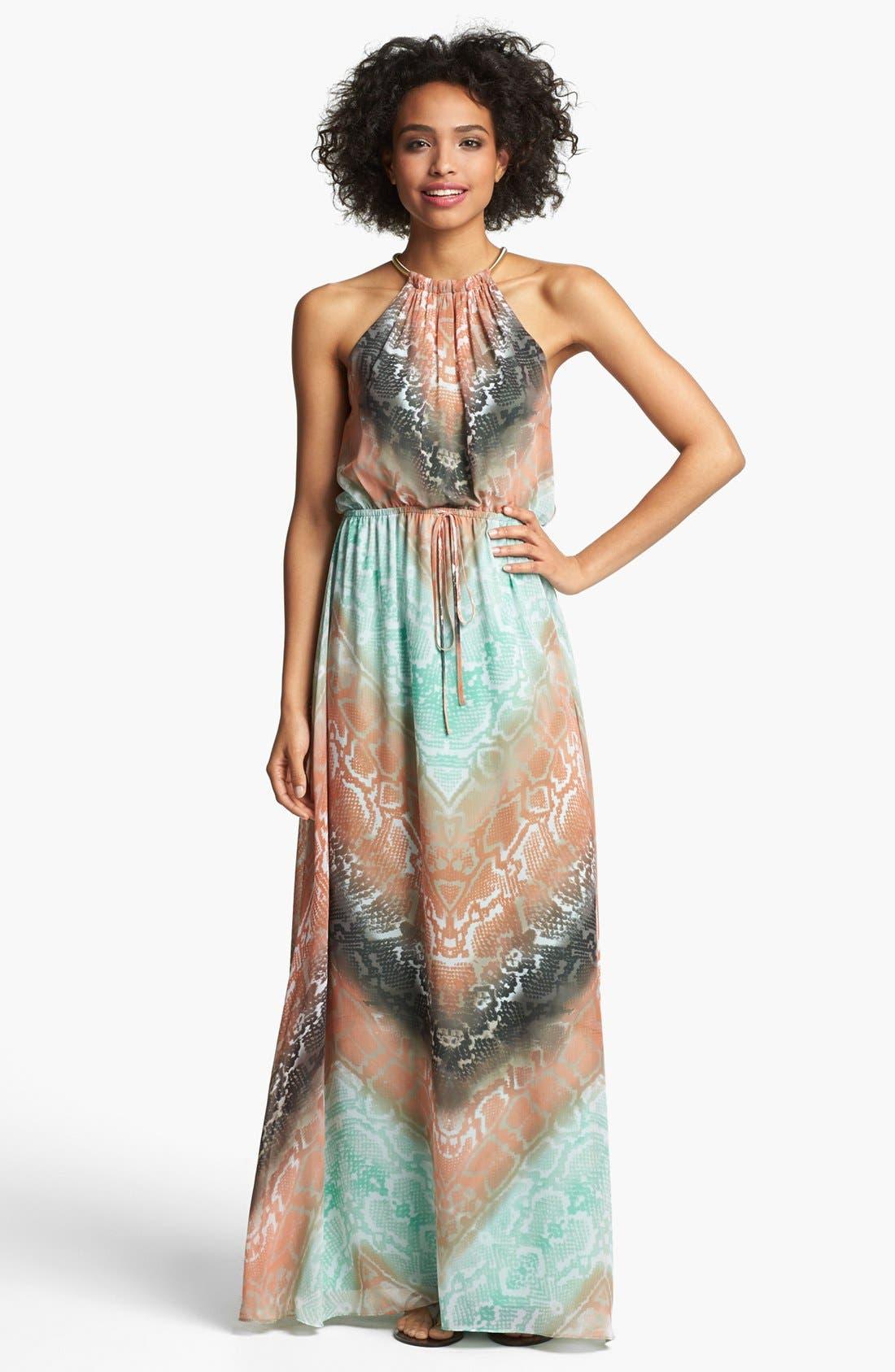 Alternate Image 1 Selected - Vince Camuto Python Print Chiffon Maxi Dress