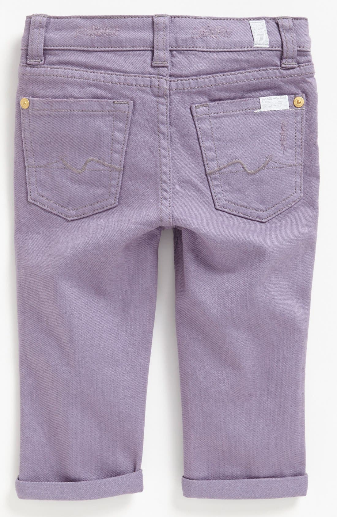 Main Image - 7 For All Mankind® 'Josefina' Jeans (Baby Girls) (Online Only)