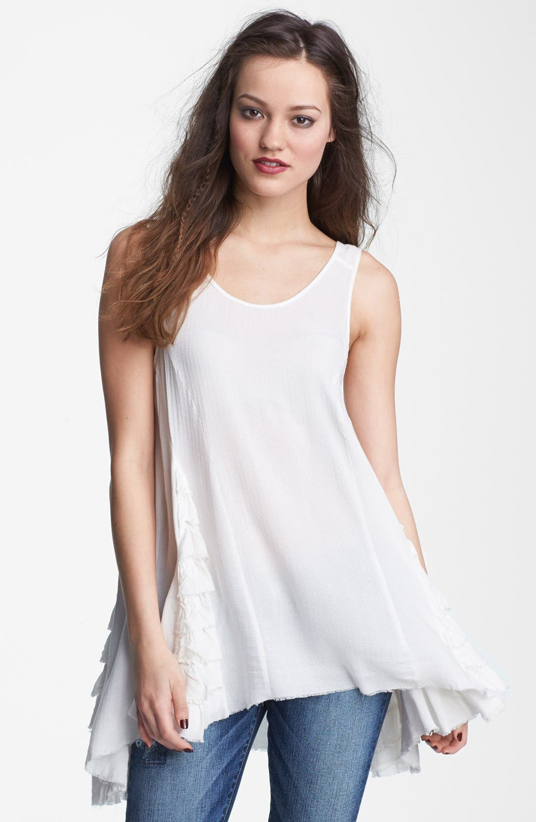 Alternate Image 1 Selected - Free People Ruffled Woven Tank