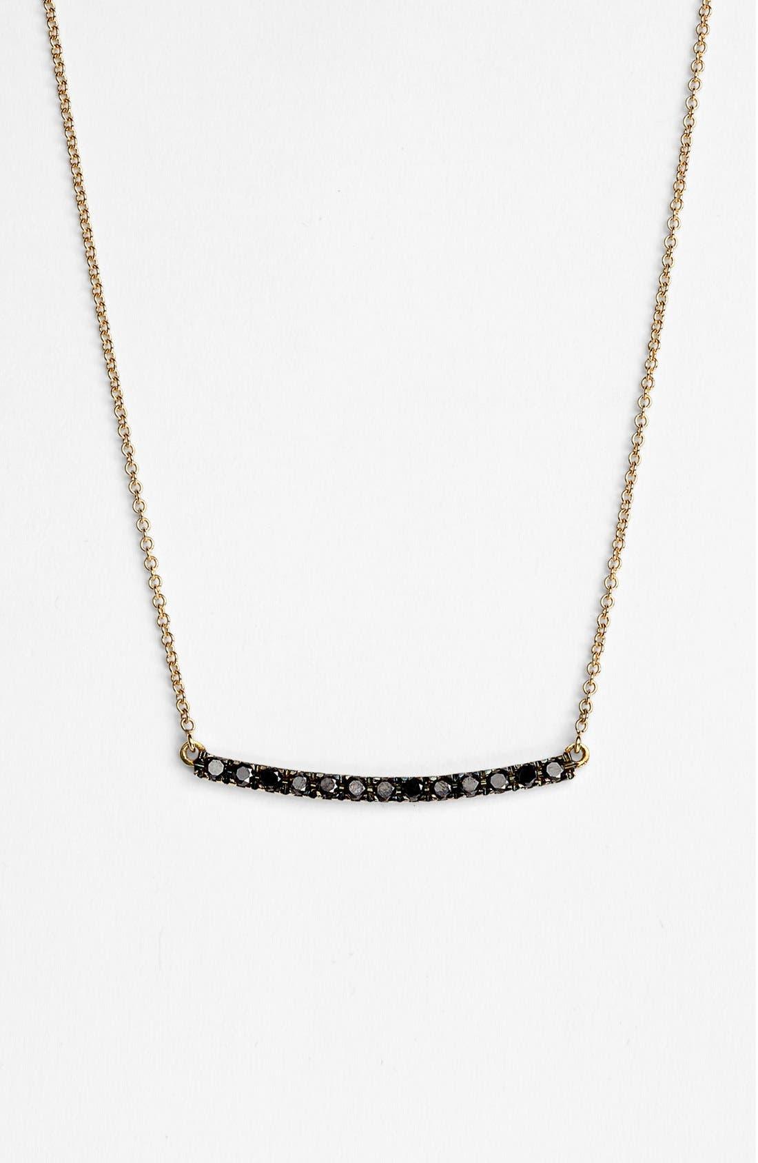 Alternate Image 1 Selected - Bony Levy 'Stick' Pavé Black Diamond Bar Necklace (Nordstrom Exclusive)