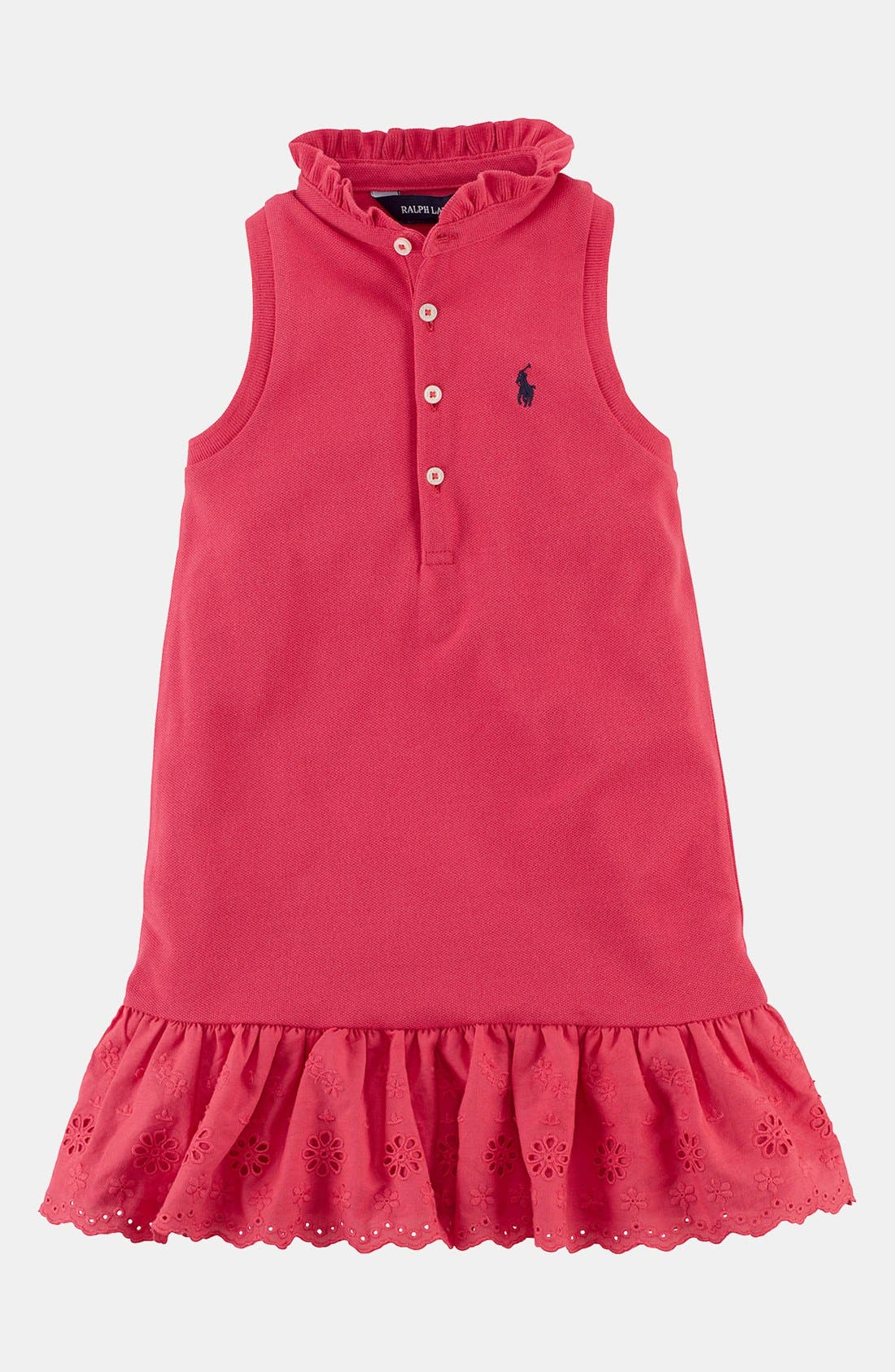 Alternate Image 1 Selected - Ralph Lauren Sleeveless Polo Dress (Toddler Girls)