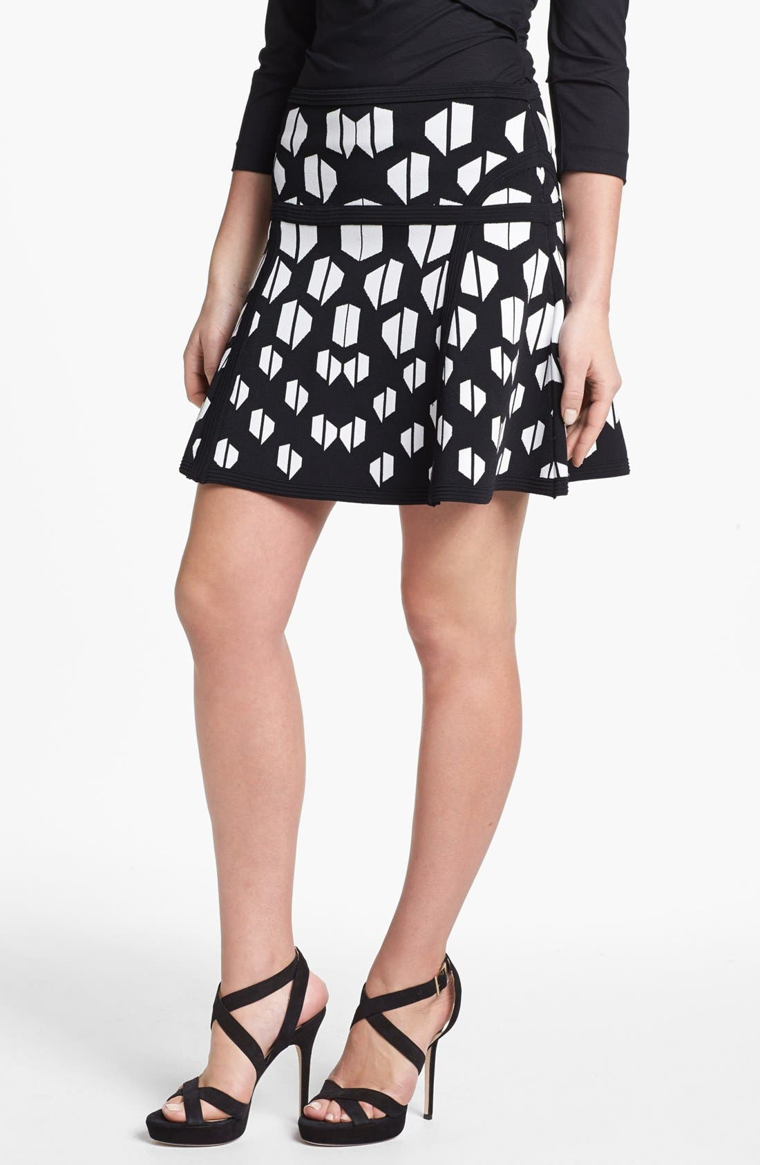 'Flote' Skirt,                             Main thumbnail 1, color,                             Black White