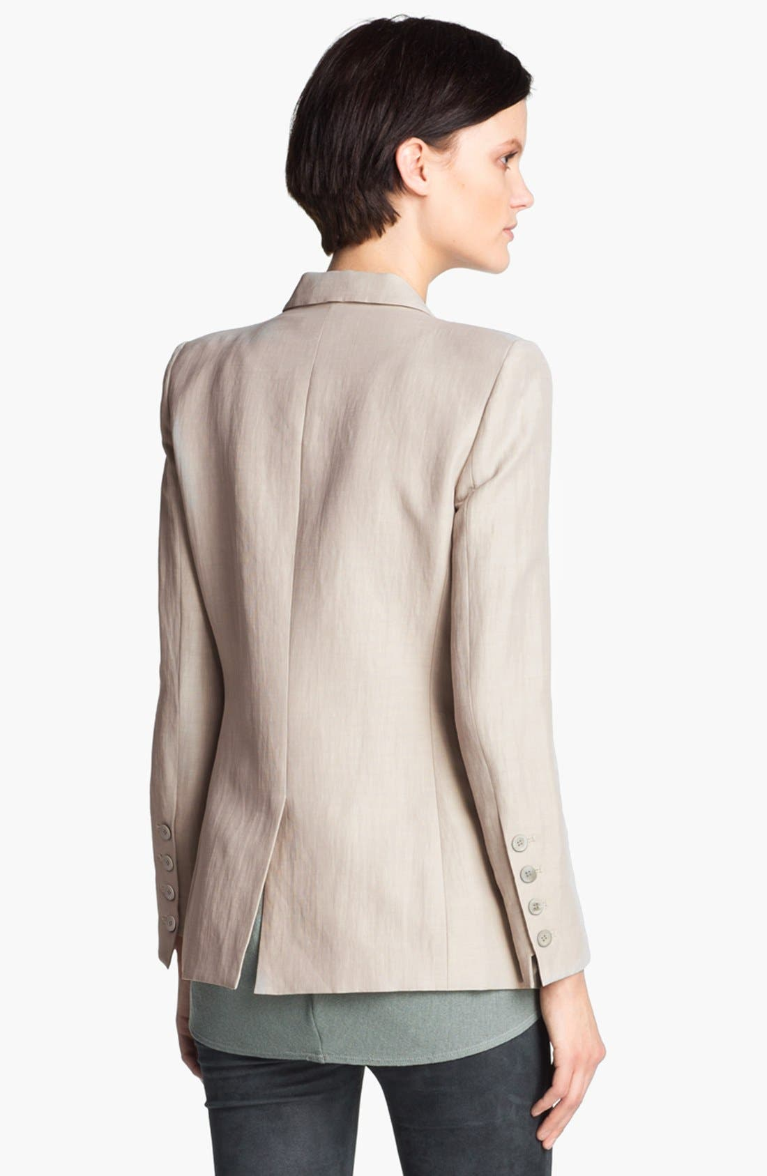 Alternate Image 2  - Helmut Lang Linen Blend Blazer