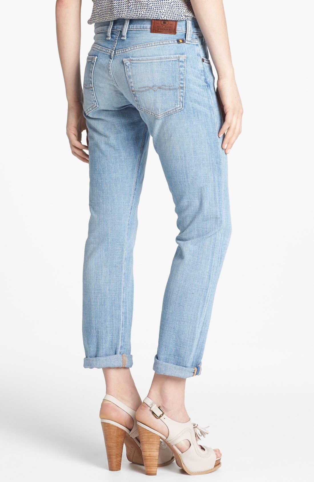 'Sienna' Tomboy Crop Jeans,                             Alternate thumbnail 2, color,                             La Jolla