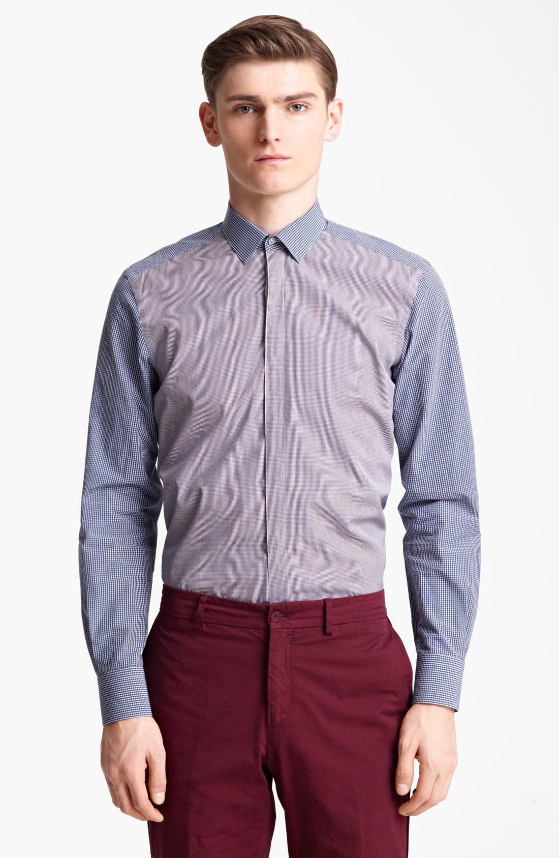 Alternate Image 1 Selected - Lanvin Two-Tone Check Dress Shirt
