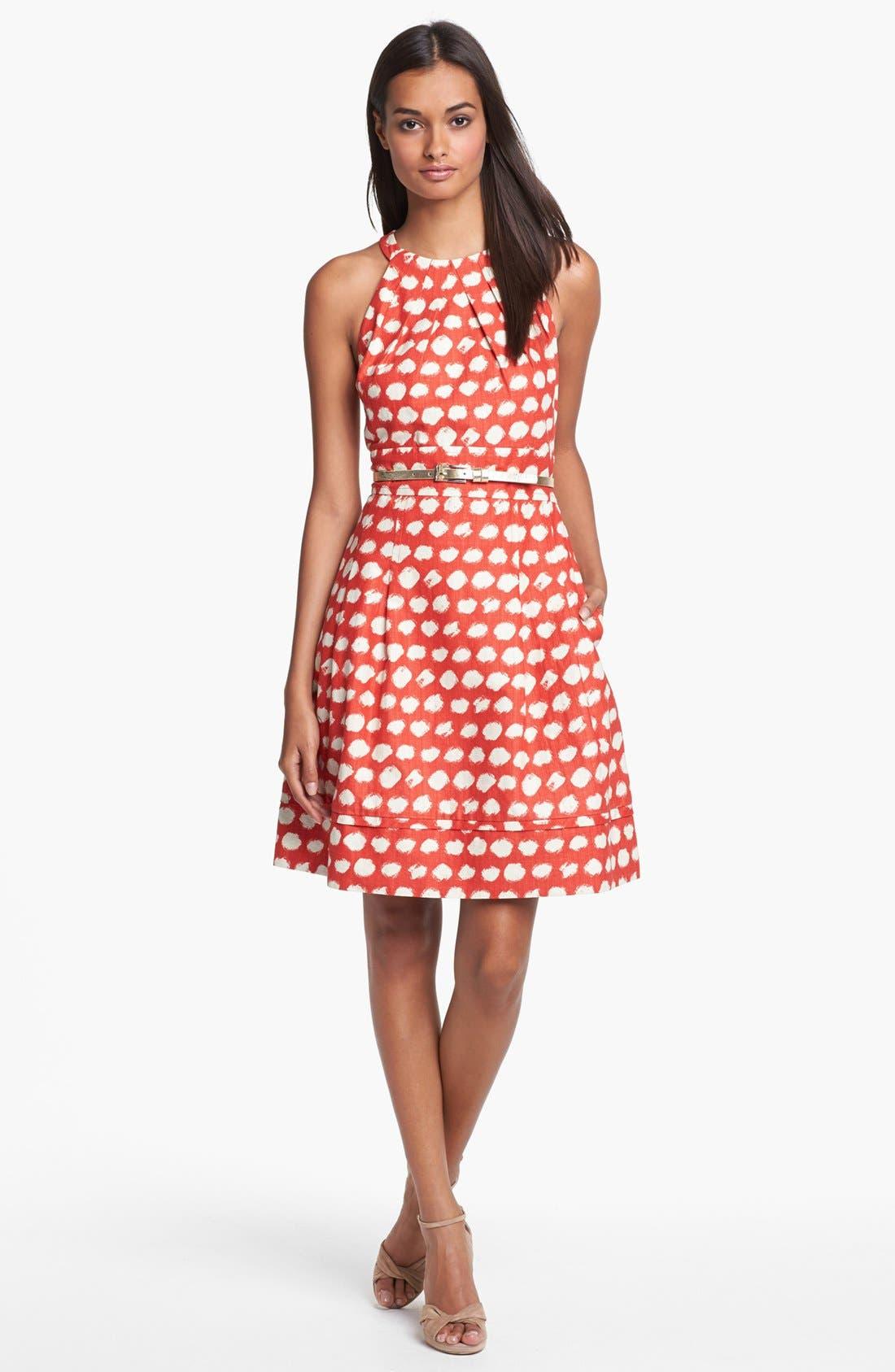 Alternate Image 2  - Eliza J Belted A-Line Dress
