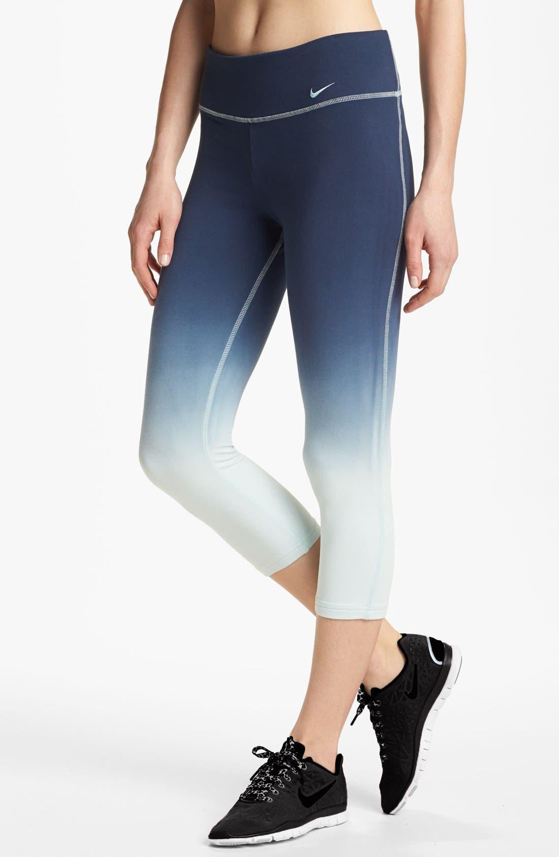 Alternate Image 1 Selected - Nike 'Legend 2.0' Dip Dye Capri Leggings