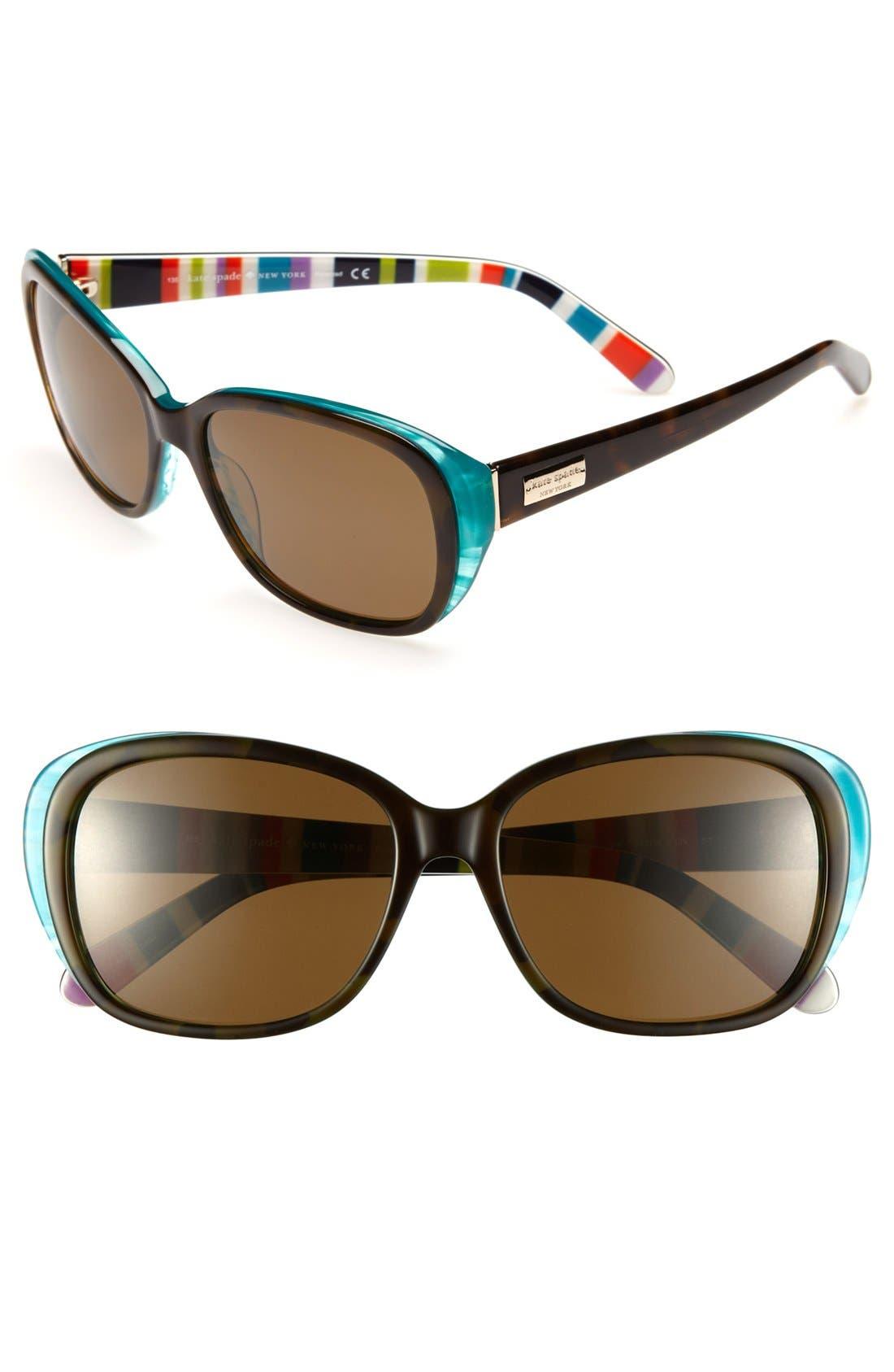 Alternate Image 1 Selected - kate spade new york 'hilde' 54mm polarized sunglasses