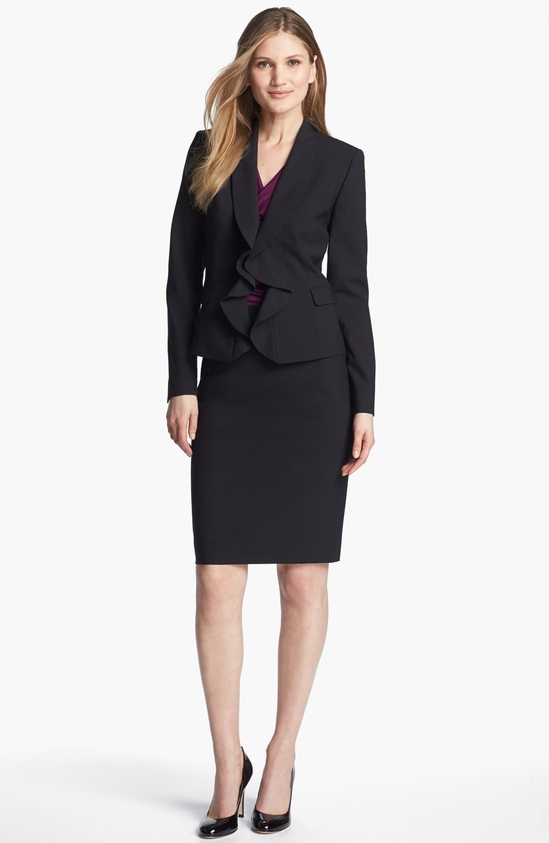 Alternate Image 4  - Classiques Entier® Stretch Wool Skirt