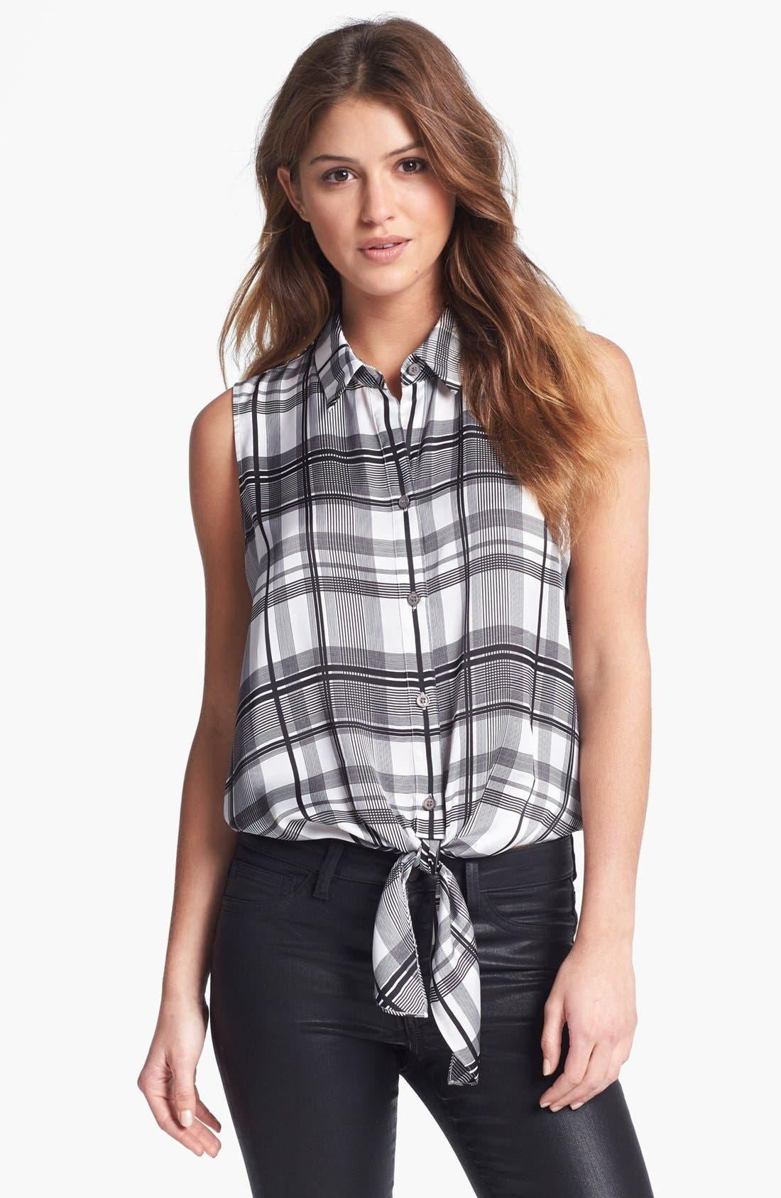 Alternate Image 1 Selected - Vince Camuto Front Tie Blouse