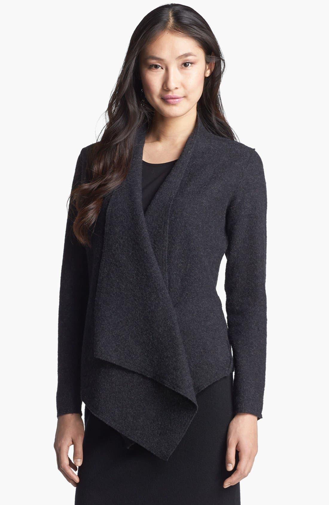 Alternate Image 1 Selected - Eileen Fisher Lightweight Boiled Wool Jacket (Regular & Petite)